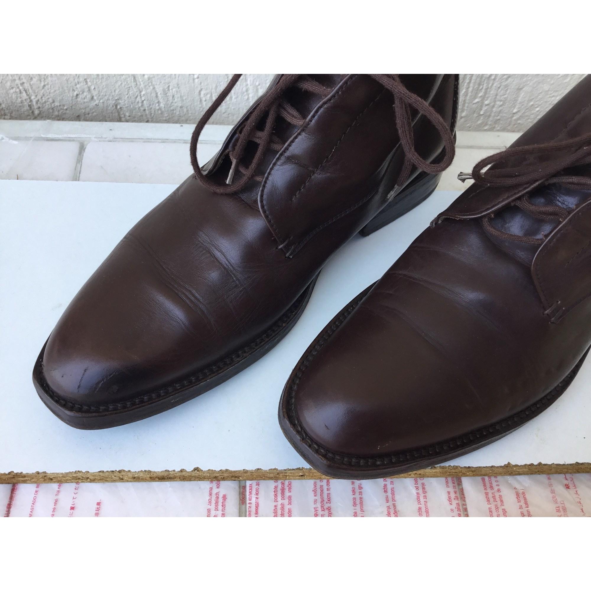 Chaussures à lacets GEORGES RECH Marron