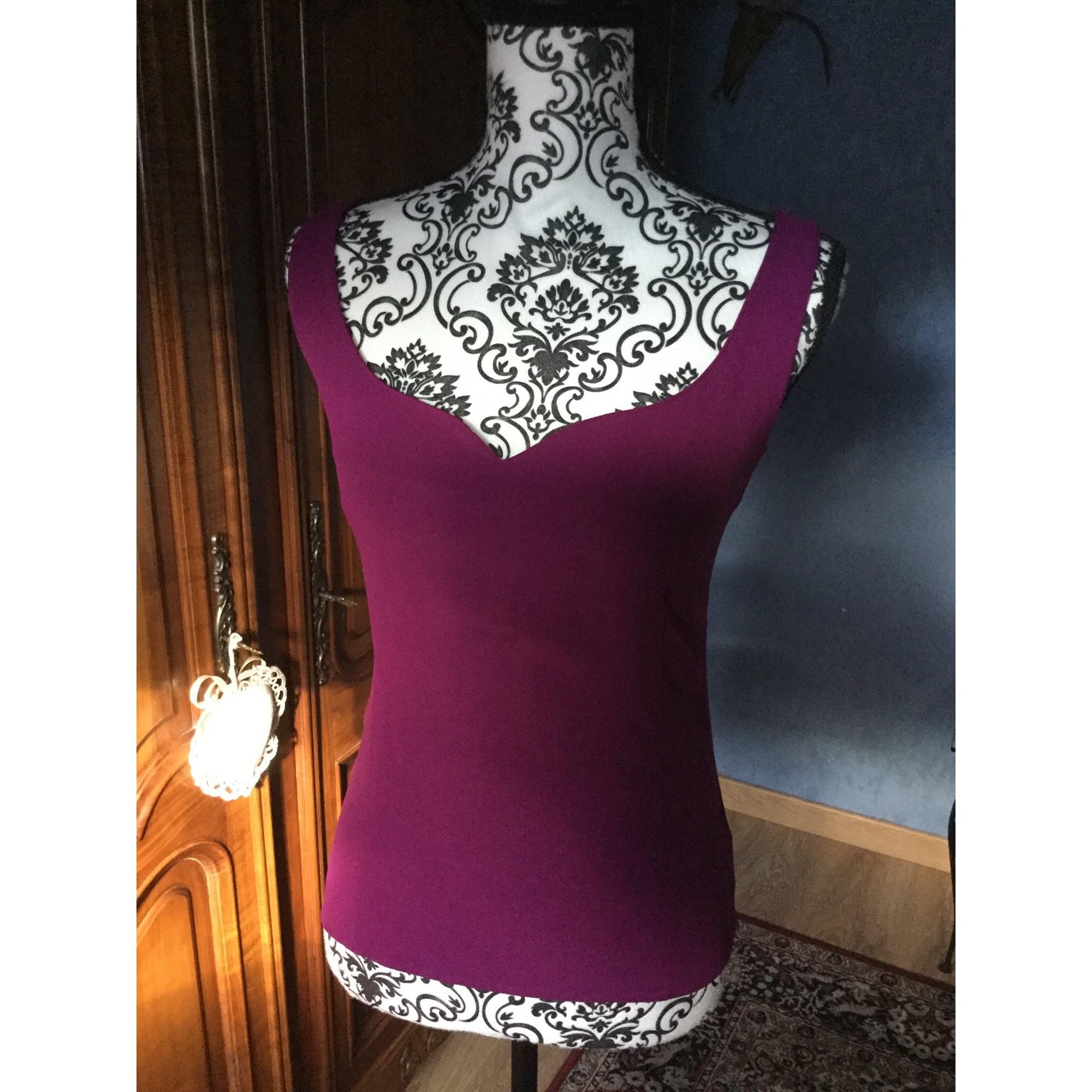 Top, tee-shirt UNGARO Violet, mauve, lavande