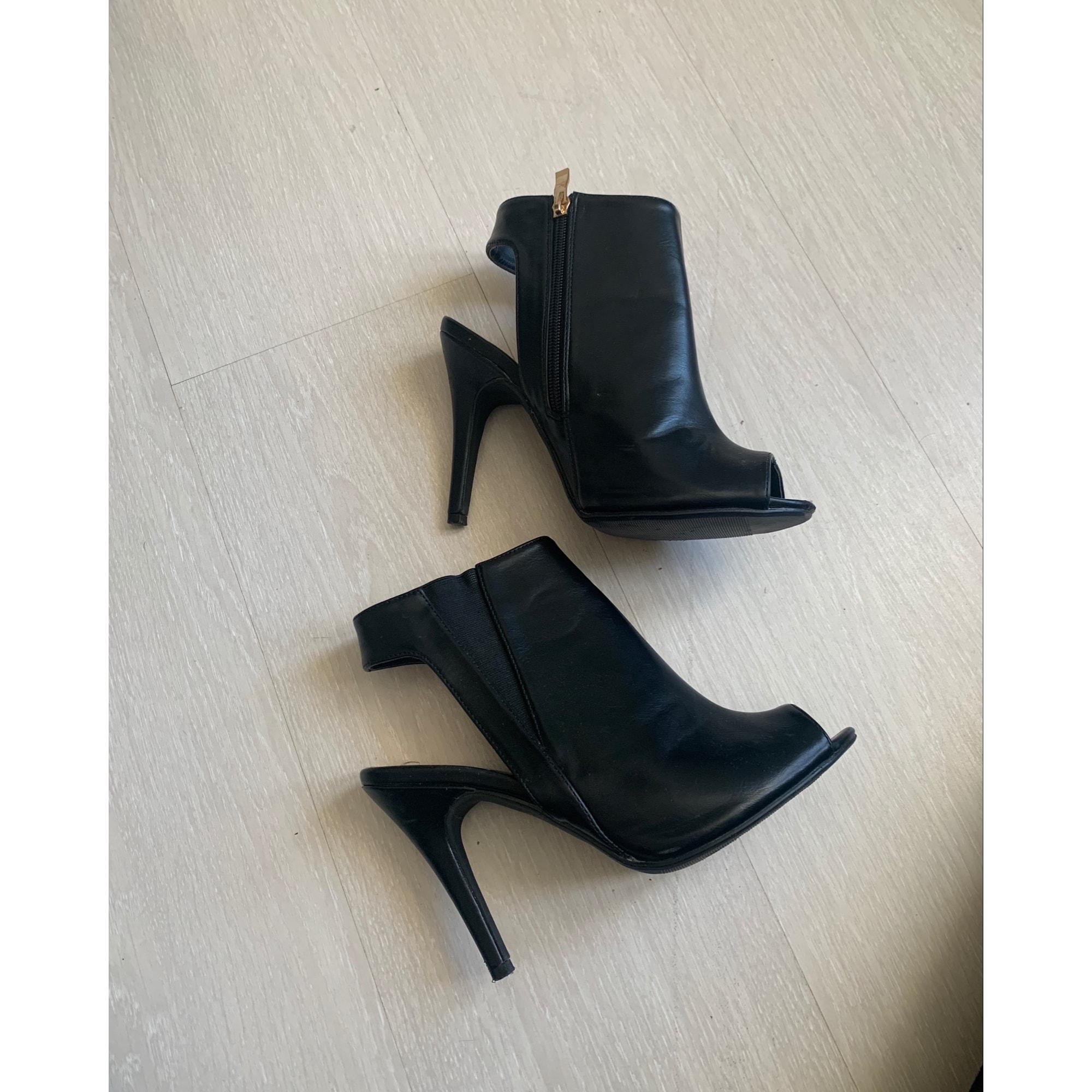 Sandales à talons MARQUE INCONNUE Noir