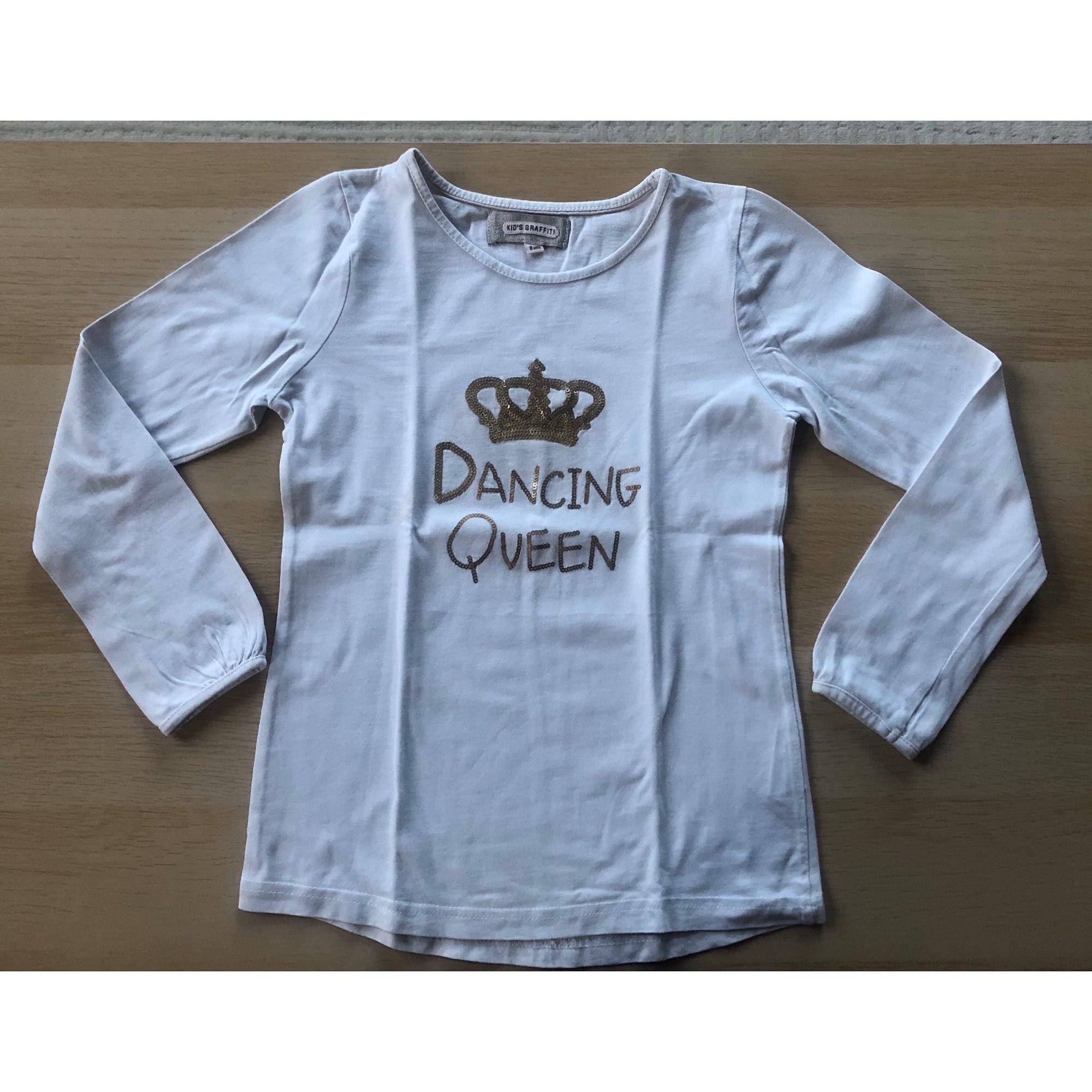 Top, Tee-shirt KID'S GRAFFITI Blanc, blanc cassé, écru