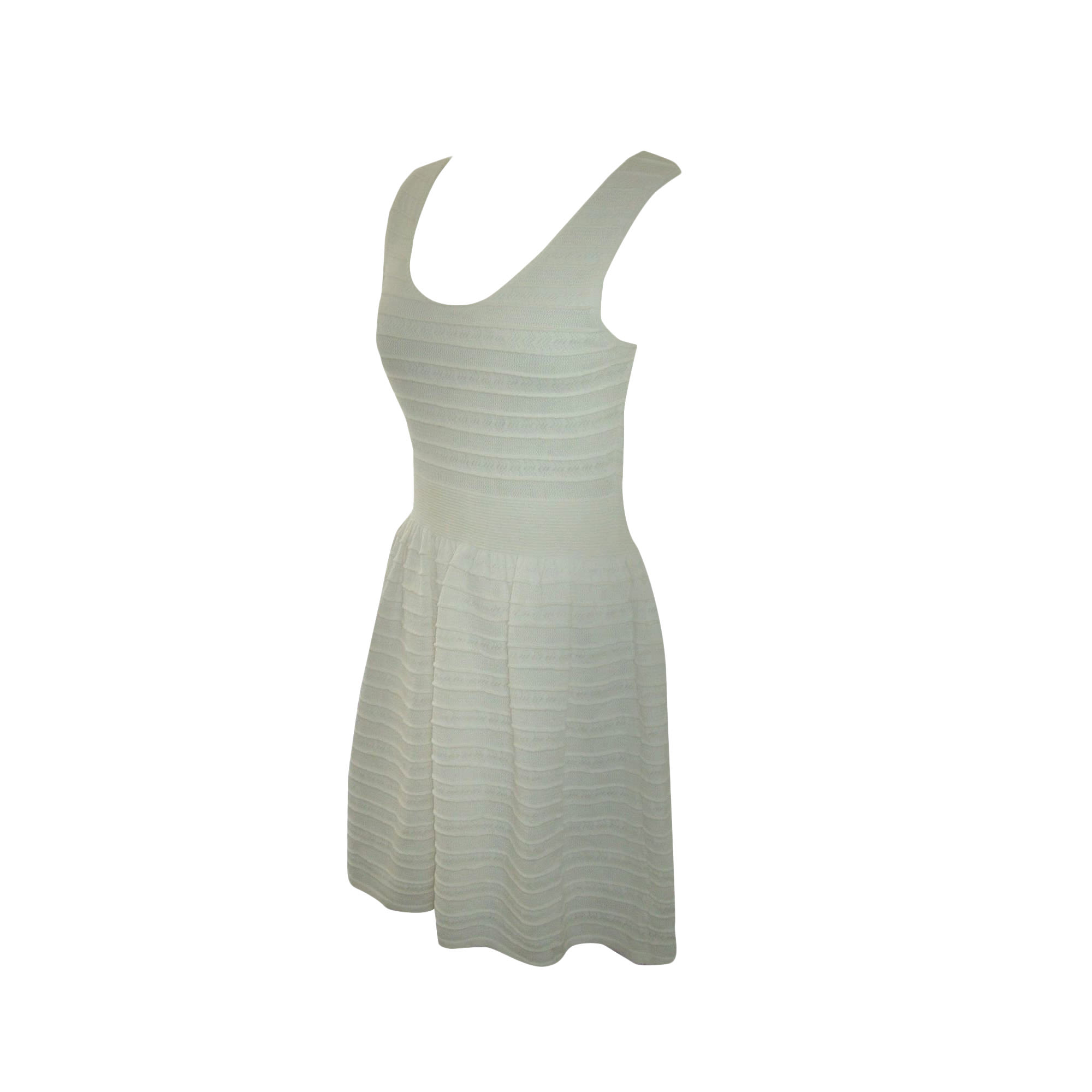 Robe mi-longue CLAUDIE PIERLOT Blanc, blanc cassé, écru