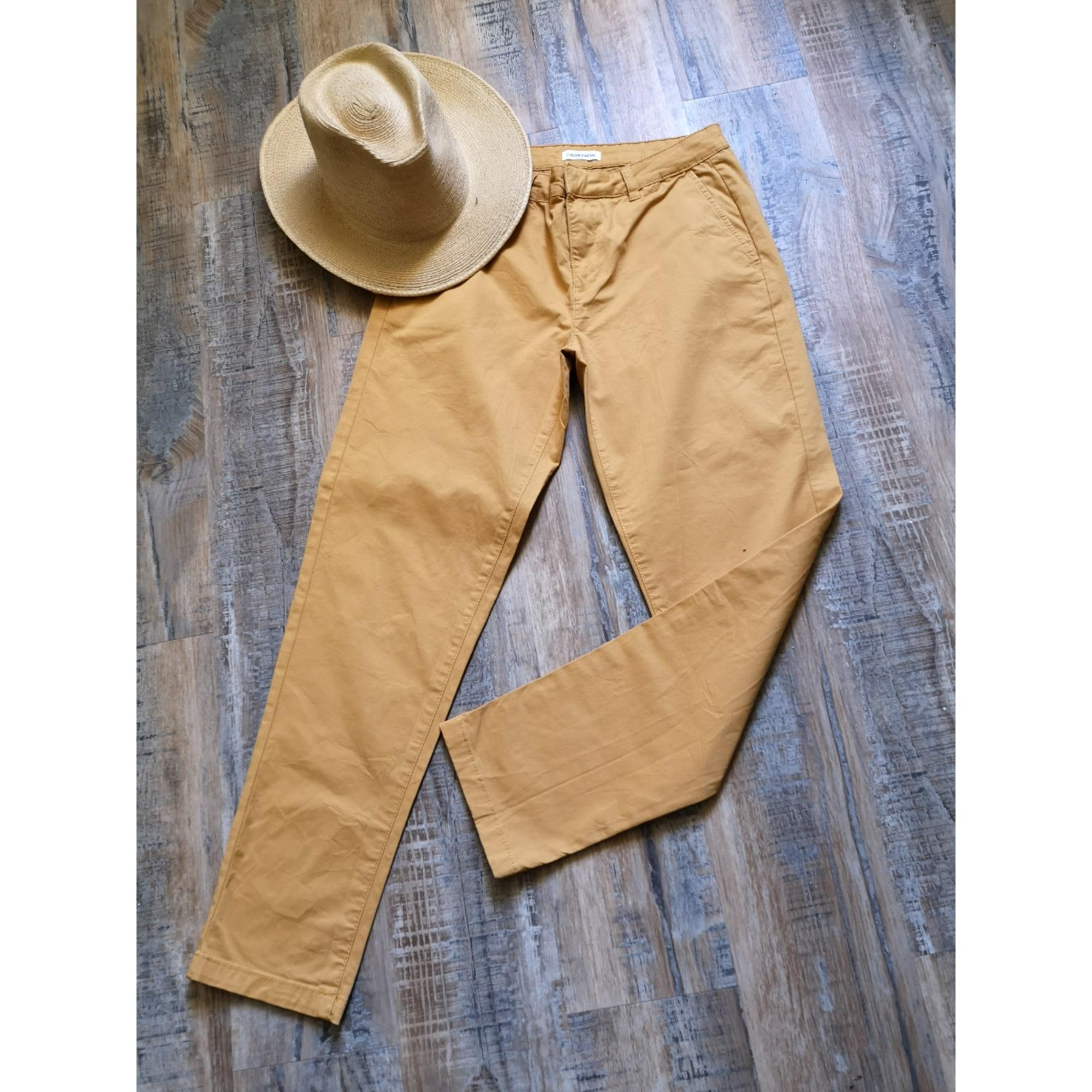 Pantalon slim, cigarette CACHE CACHE Orange