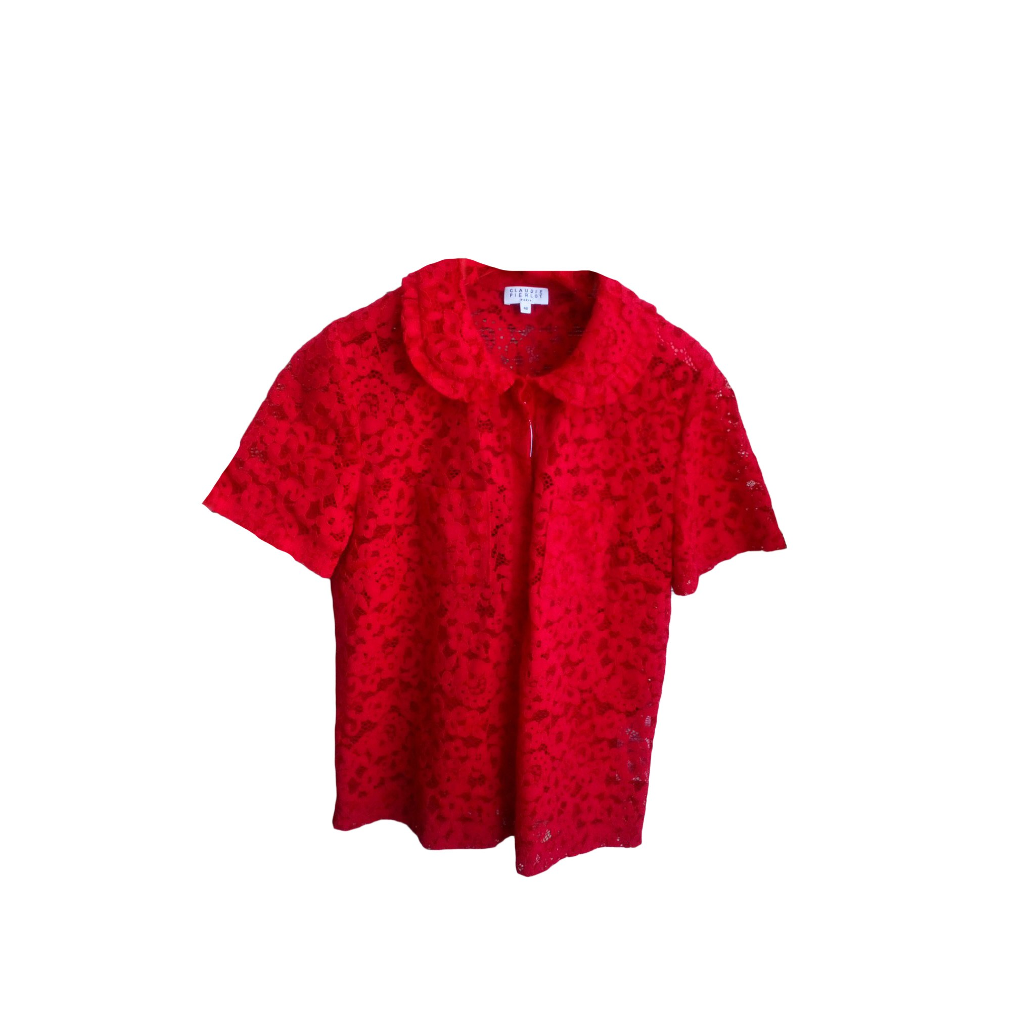 Chemisier CLAUDIE PIERLOT Rouge, bordeaux