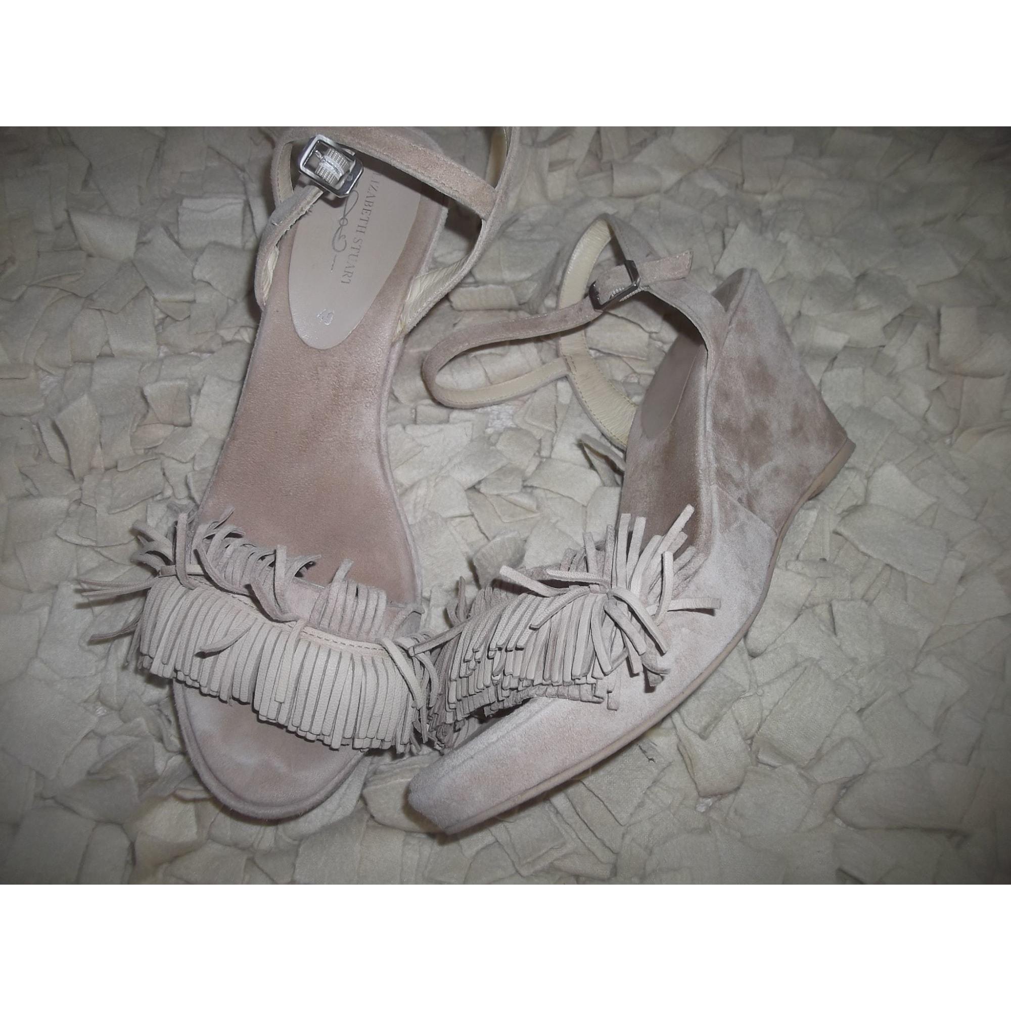 Sandales compensées ELIZABETH STUART Beige, camel