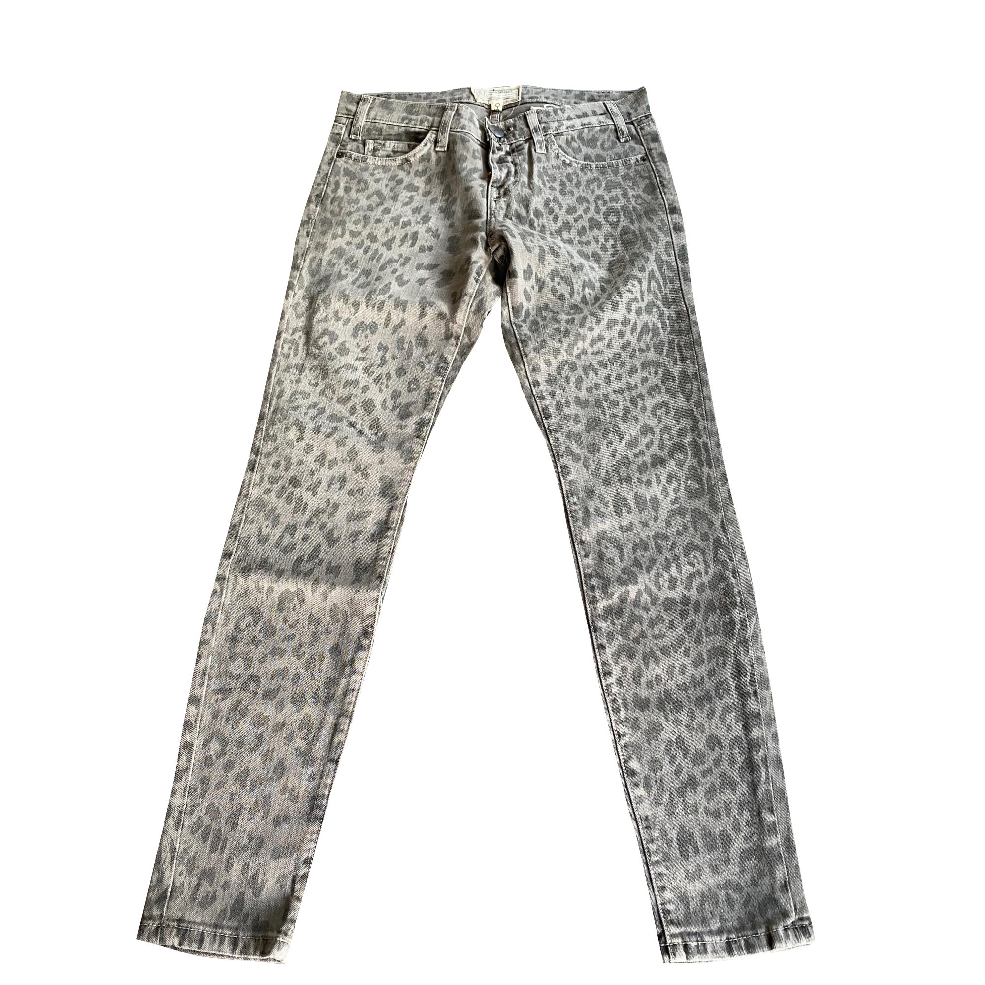 Jeans slim CURRENT/ELLIOTT Gris, anthracite