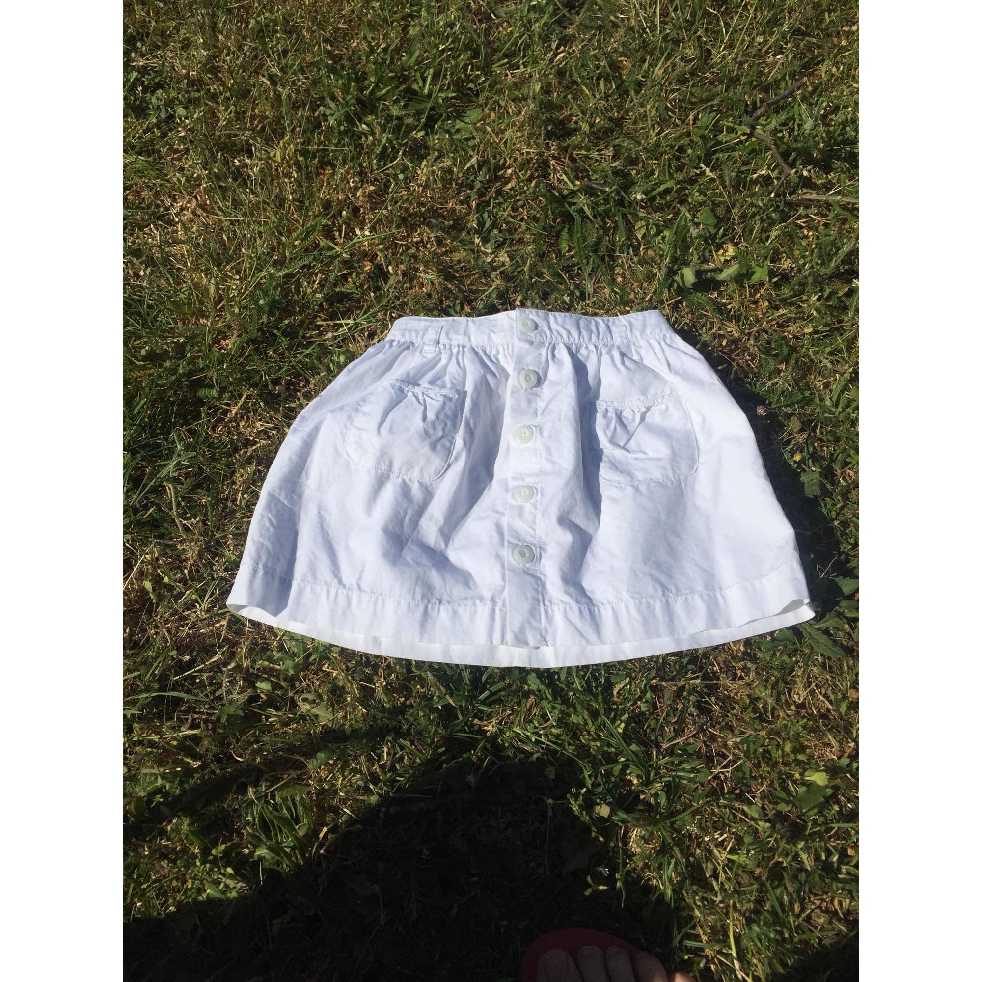 Jupe JACADI Blanc, blanc cassé, écru
