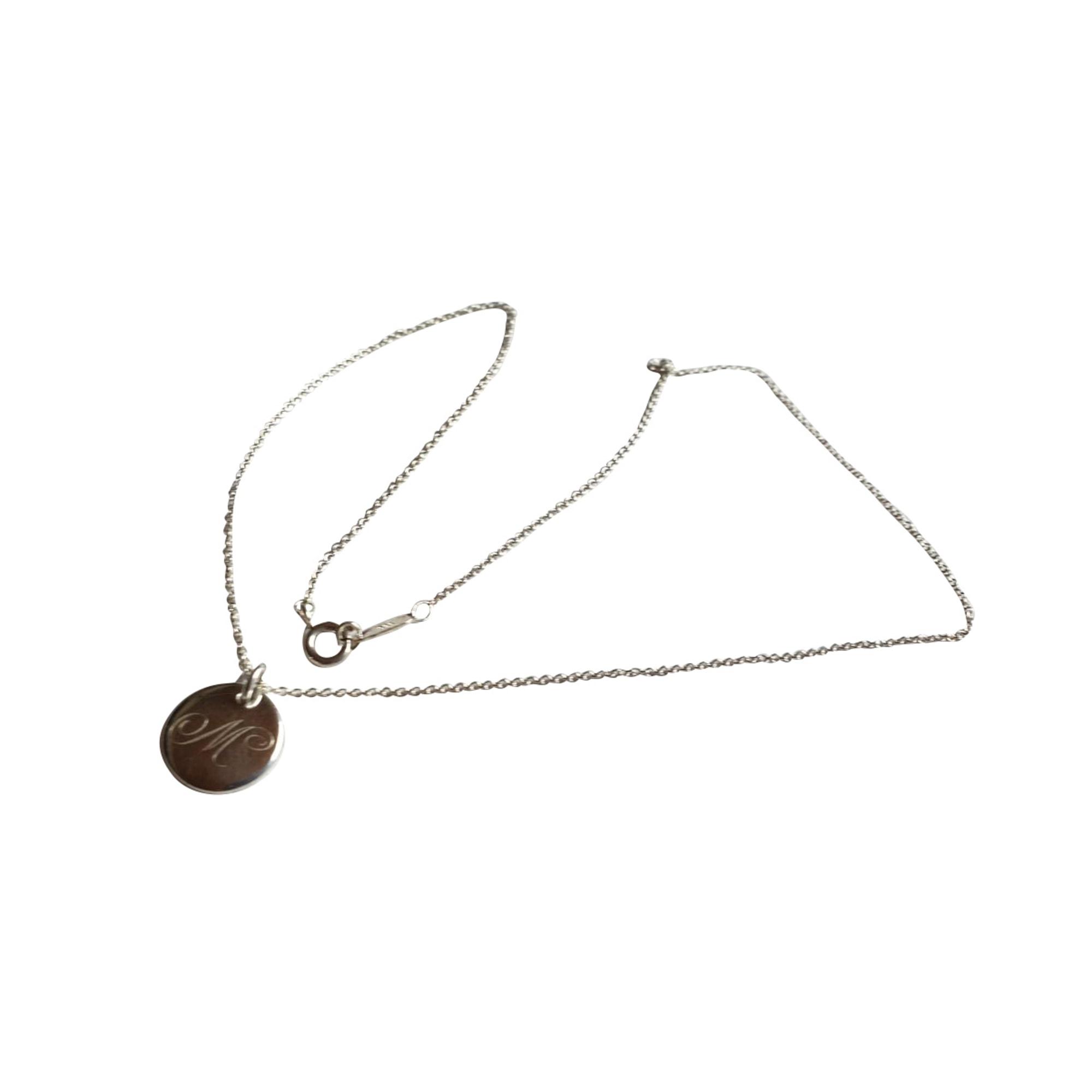 Ciondolo, collana con ciondoli TIFFANY & CO. Argentato, acciaio