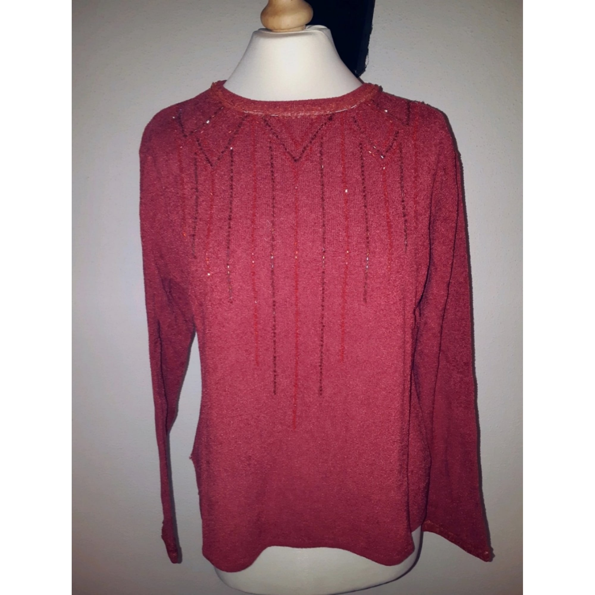 Pull BLANCH ROSE Rouge, bordeaux
