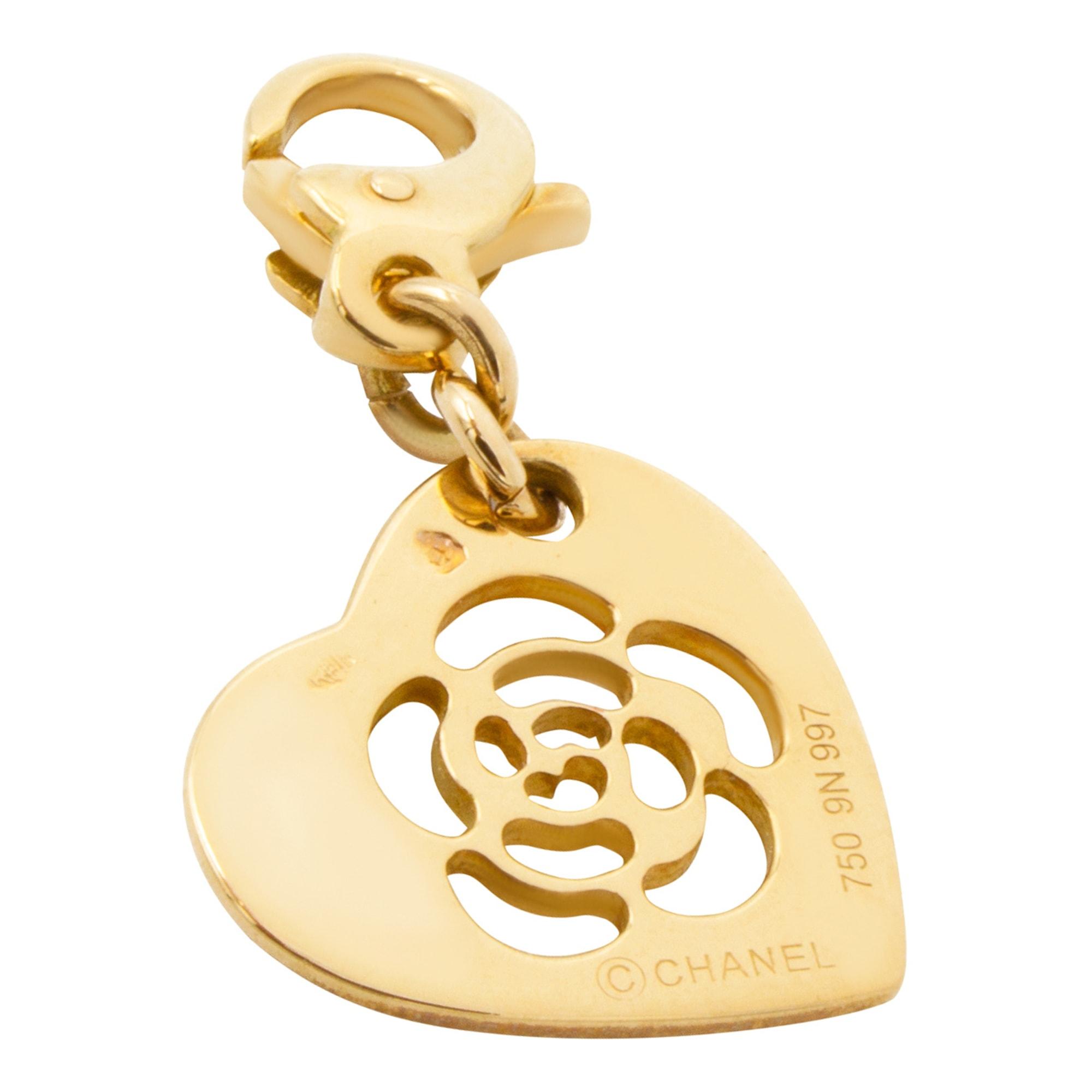 Pendentif, collier pendentif CHANEL Camelia Doré, bronze, cuivre