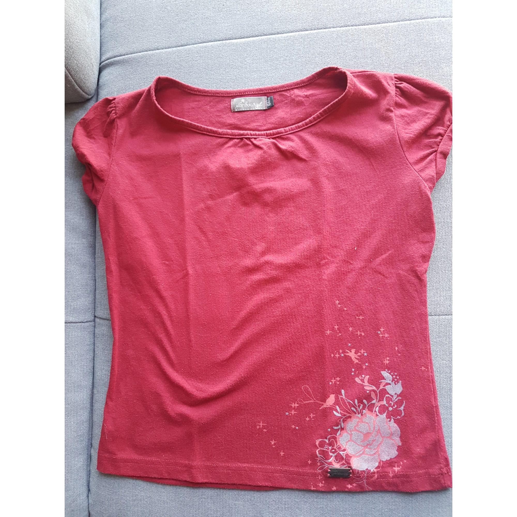 Top, Tee-shirt JEANBOURGET Rouge, bordeaux