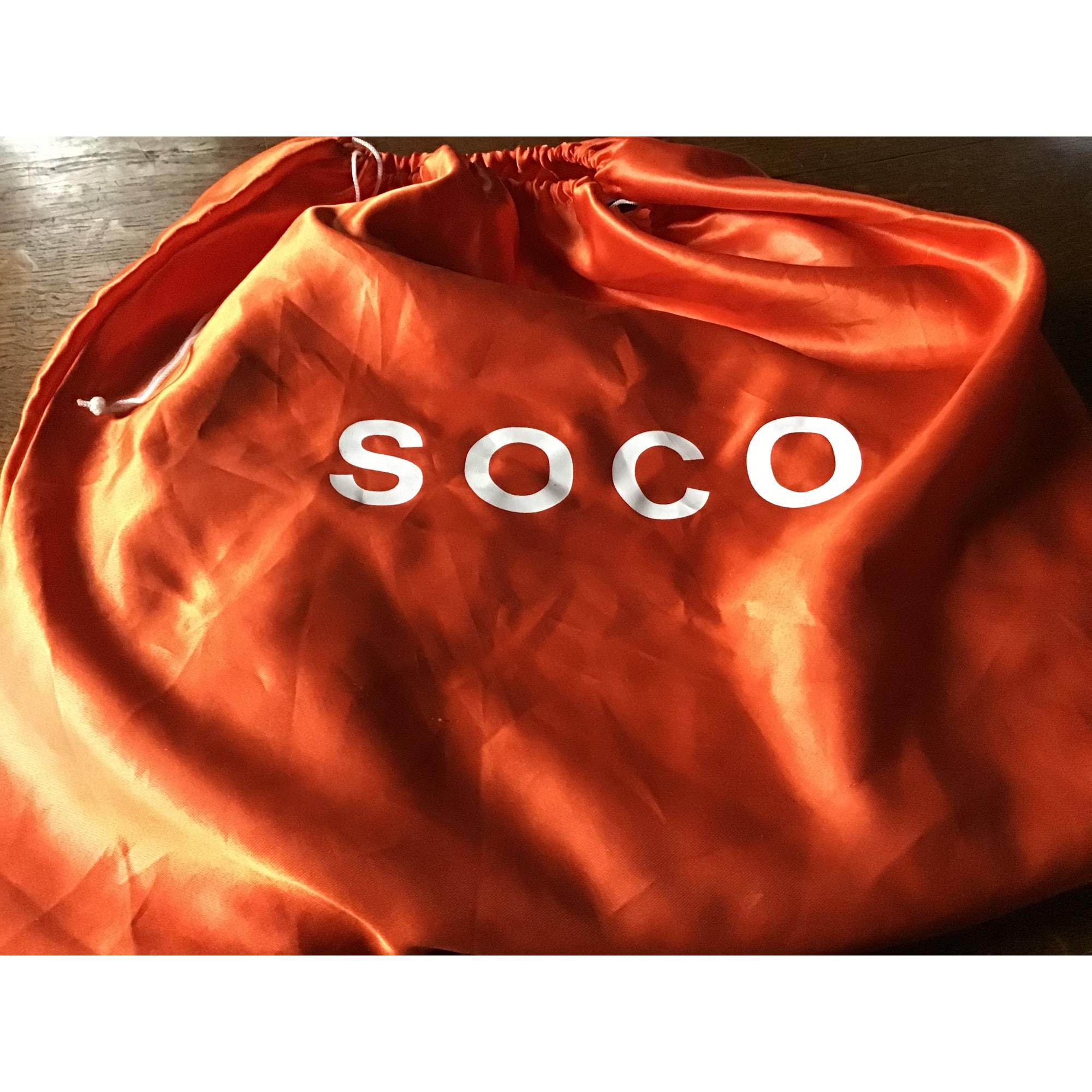 Sac à main en cuir SOCO Marron