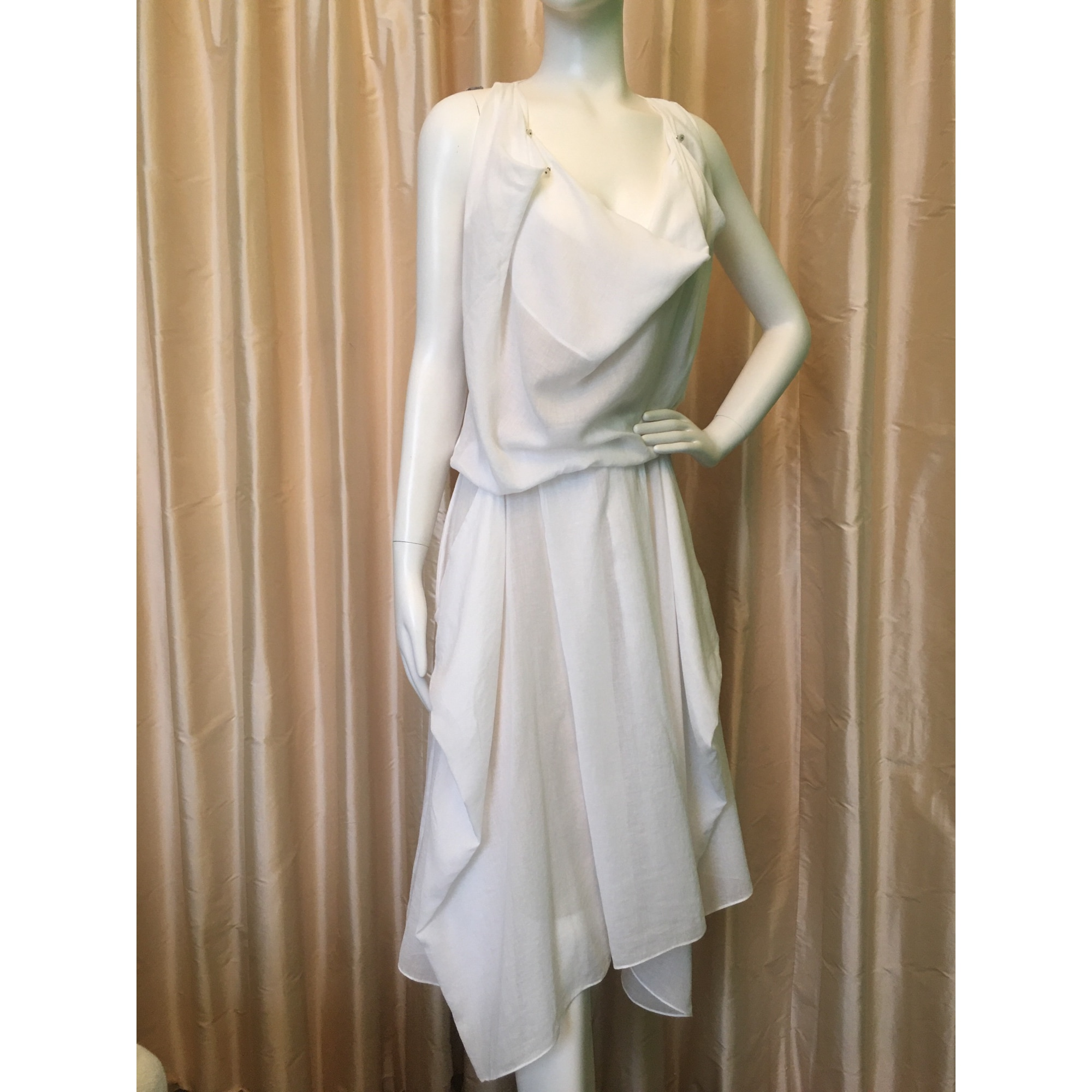 Robe mi-longue KENZO Blanc, blanc cassé, écru