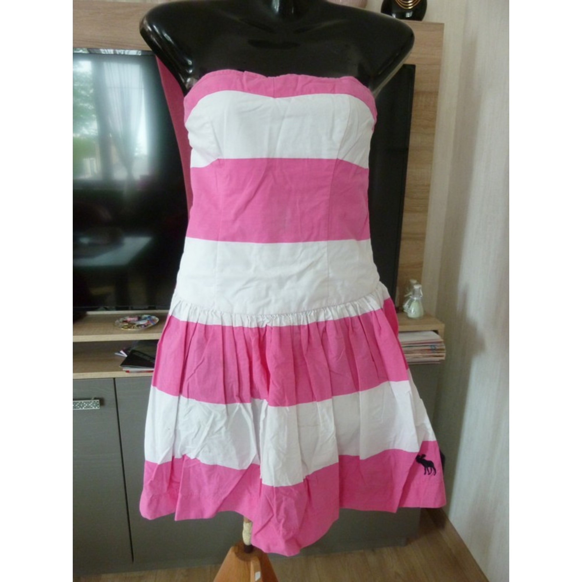 Robe bustier ABERCROMBIE & FITCH Rose, fuschia, vieux rose