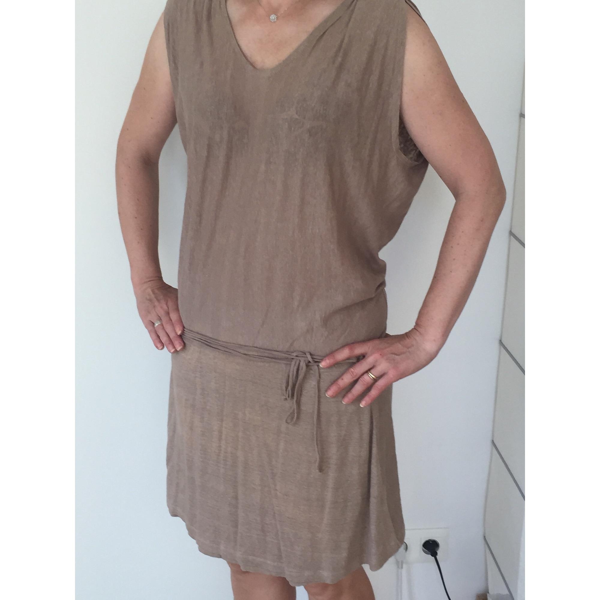 Robe courte BERENICE Beige, camel