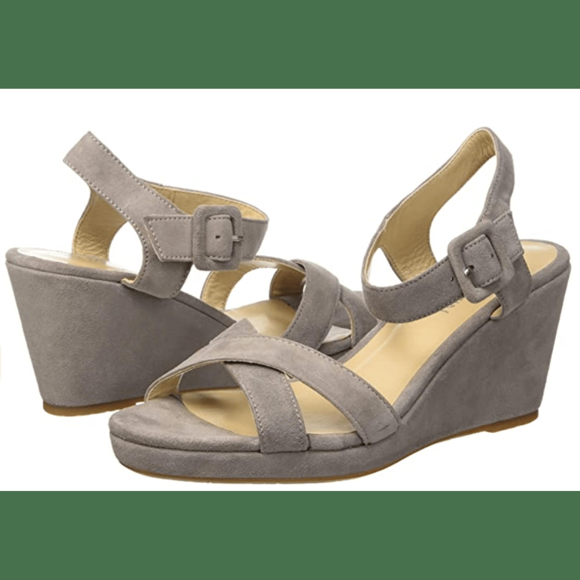 Sandales compensées JB MARTIN Gris, anthracite