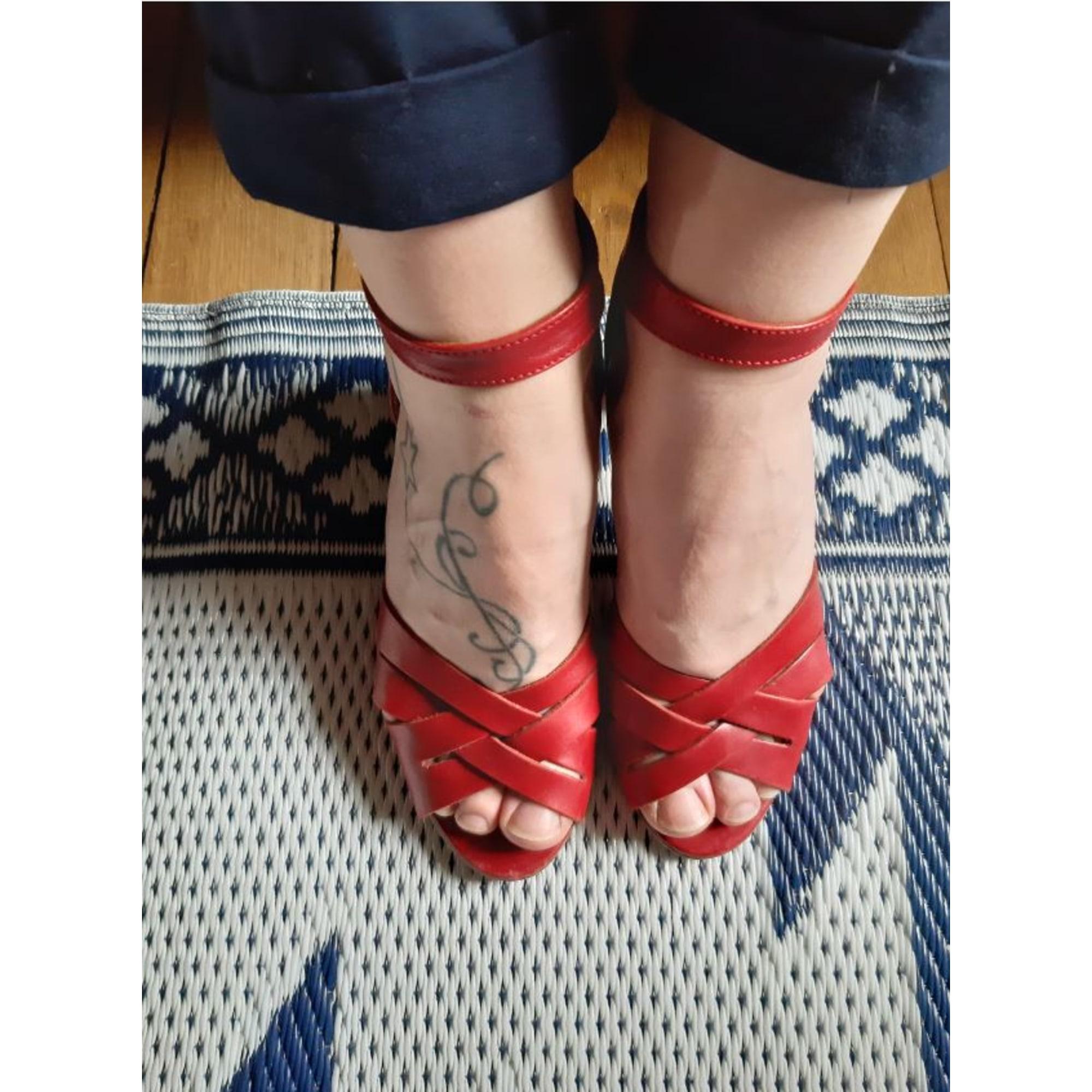Sandales à talons ANTHOLOGY PARIS Rouge, bordeaux