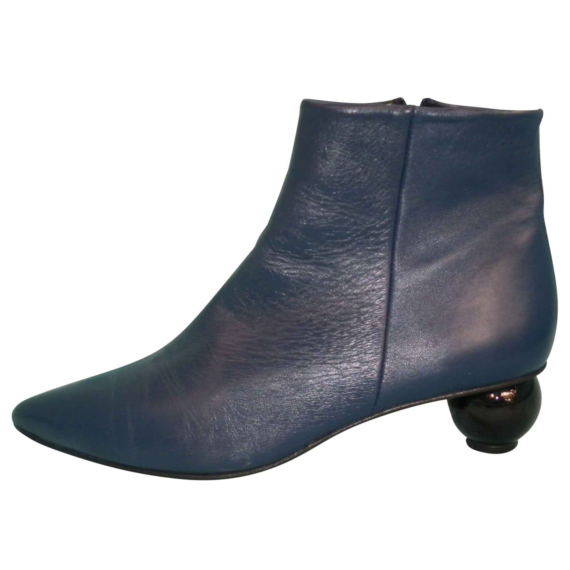 Bottines & low boots à talons CAREL Bleu, bleu marine, bleu turquoise