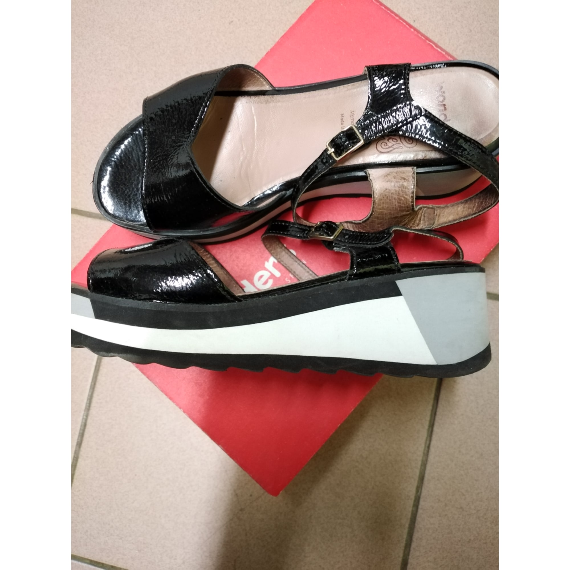 Sandales compensées WONDERS Noir