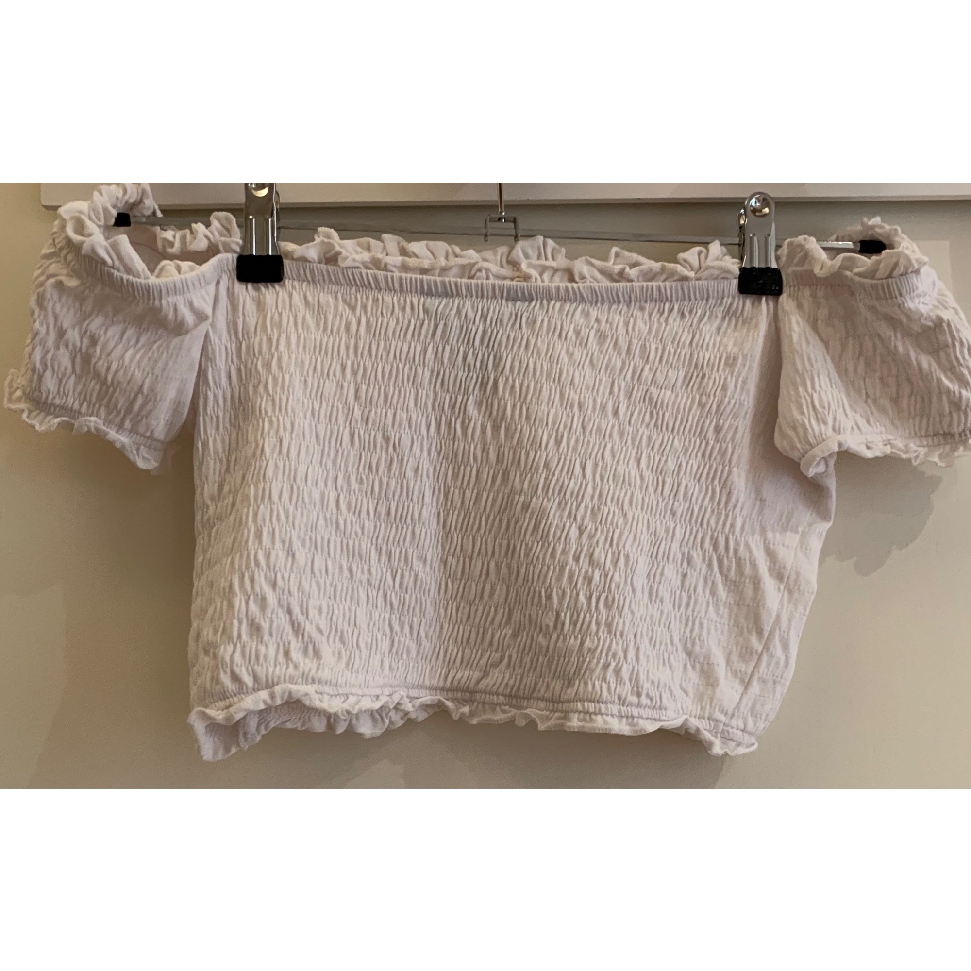 Top, tee-shirt NEW LOOK Blanc, blanc cassé, écru