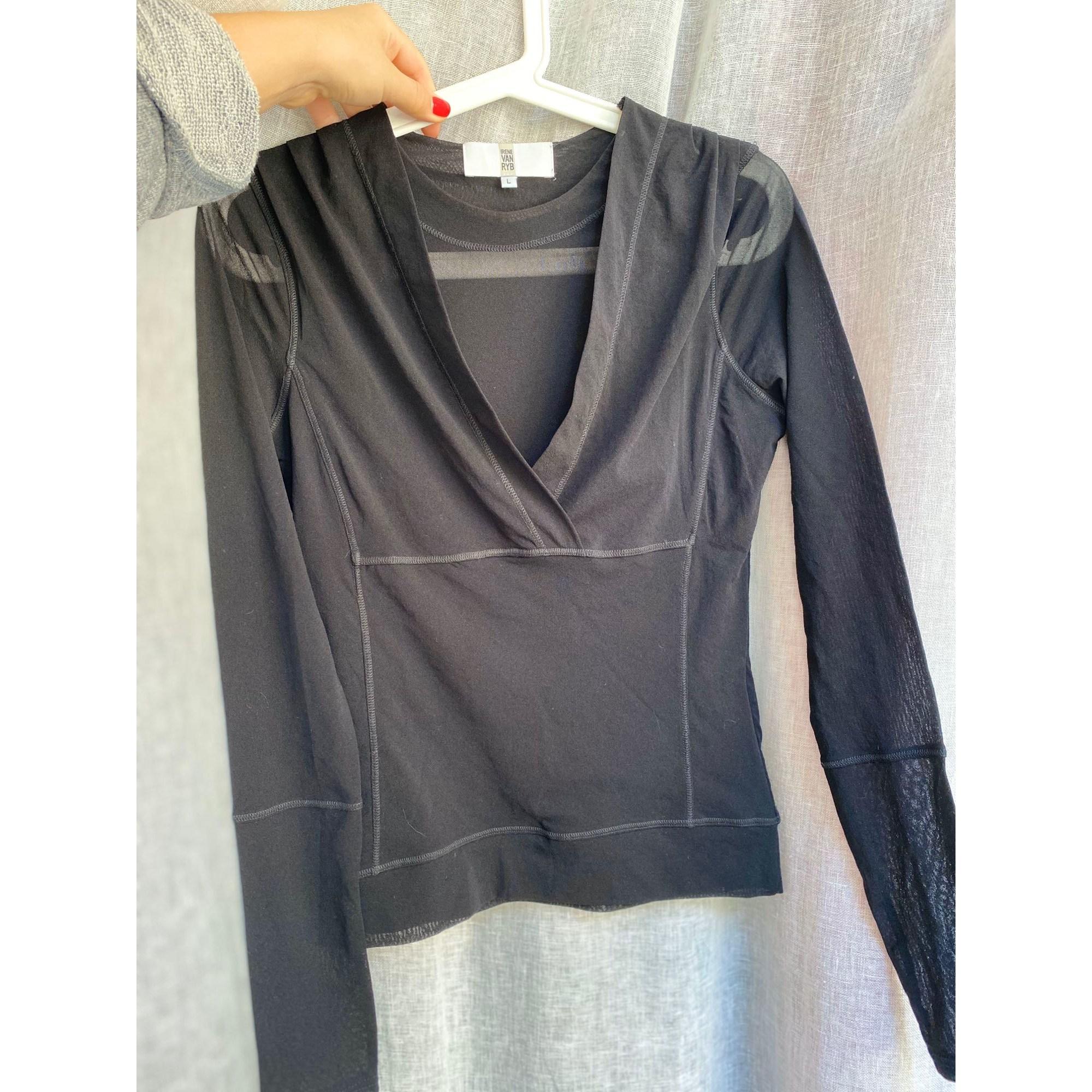 Top, tee-shirt IRENE VAN RYB Noir