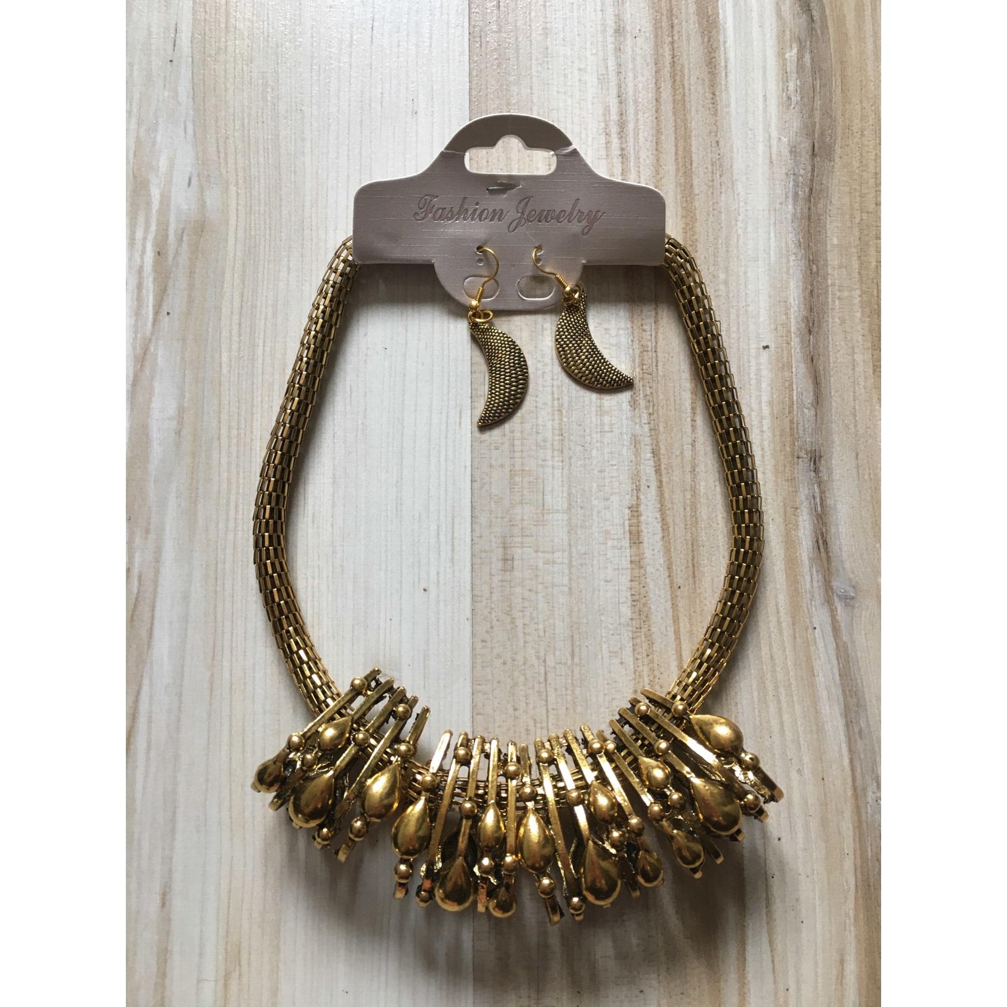 Parure bijoux FASHION JEWELRY Doré, bronze, cuivre