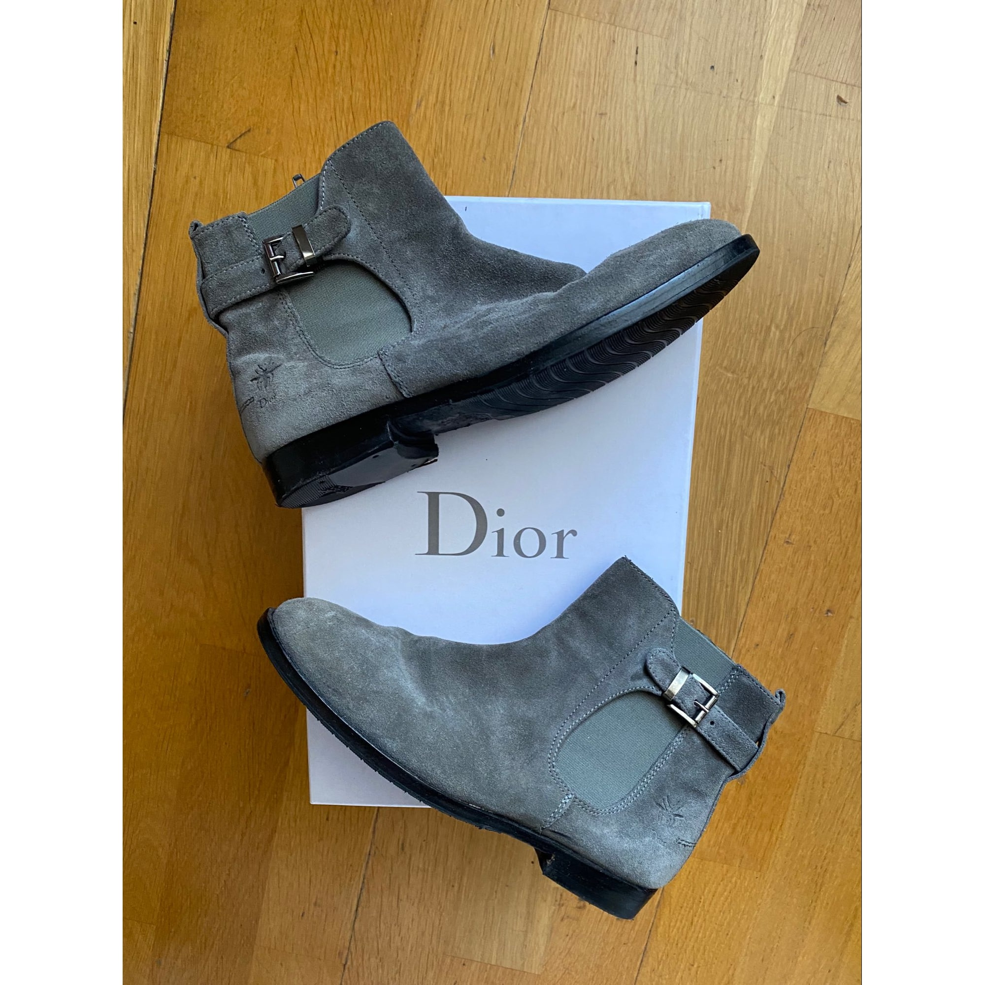 Ankle Boots DIOR Gray, charcoal
