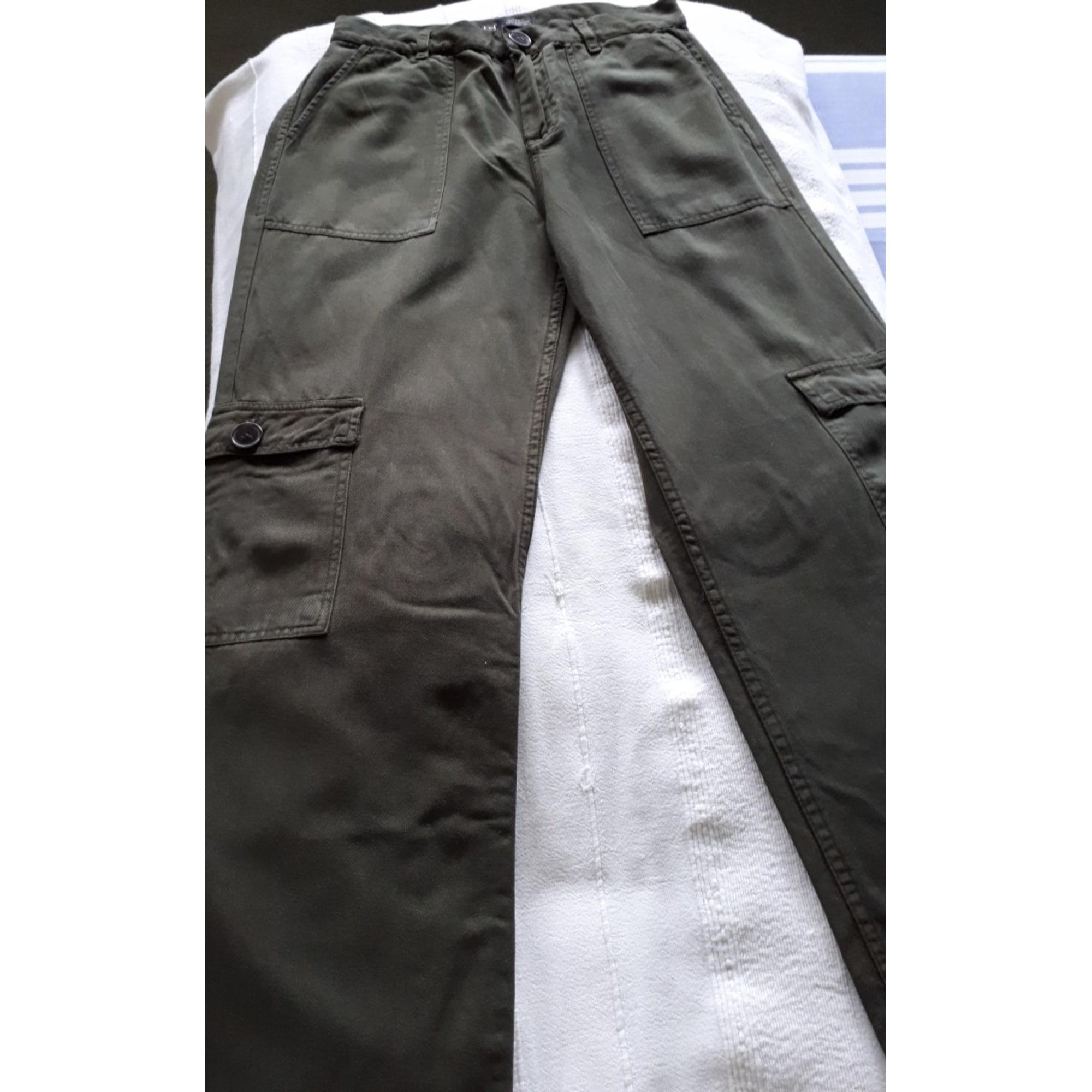Pantalon large ZARA Kaki