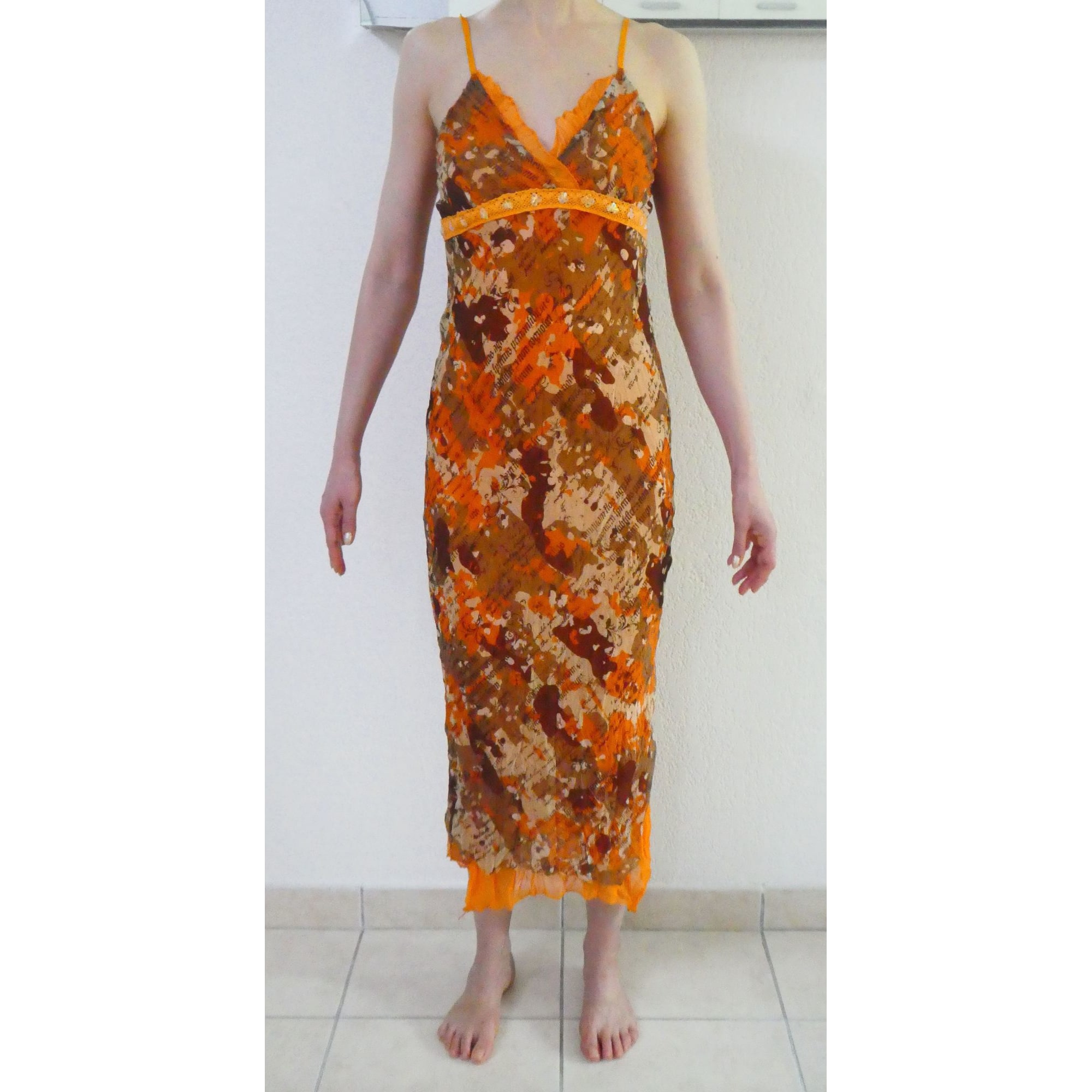 Robe dos nu XANAKA Orange