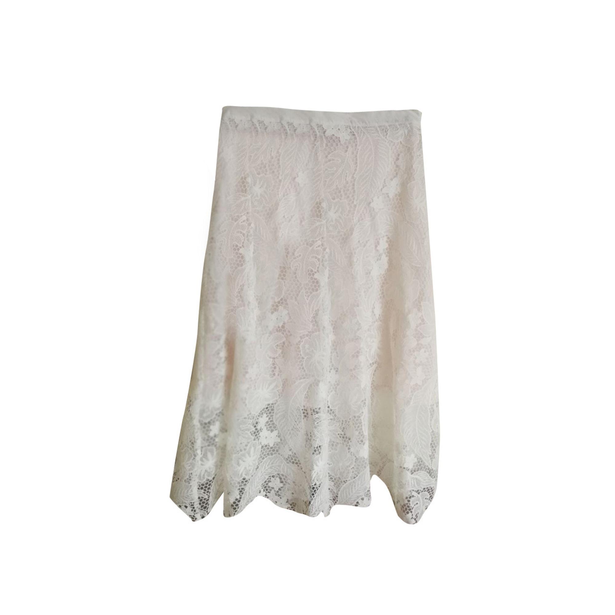 Jupe longue TOMMY HILFIGER Blanc, blanc cassé, écru