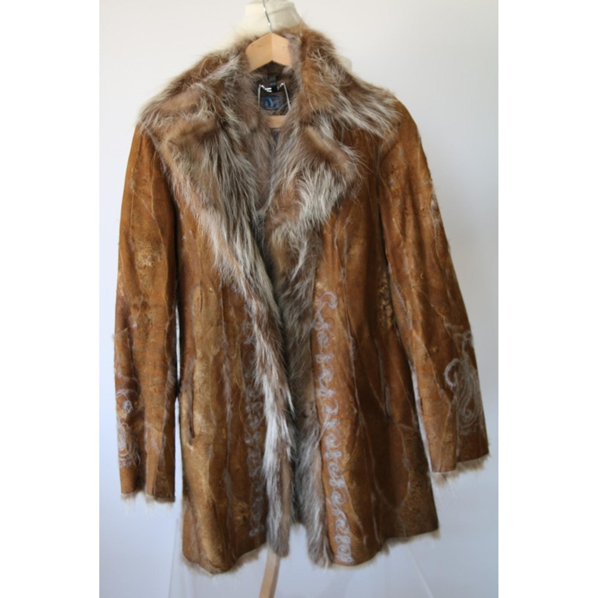 Manteau en fourrure KRYOS Beige, camel