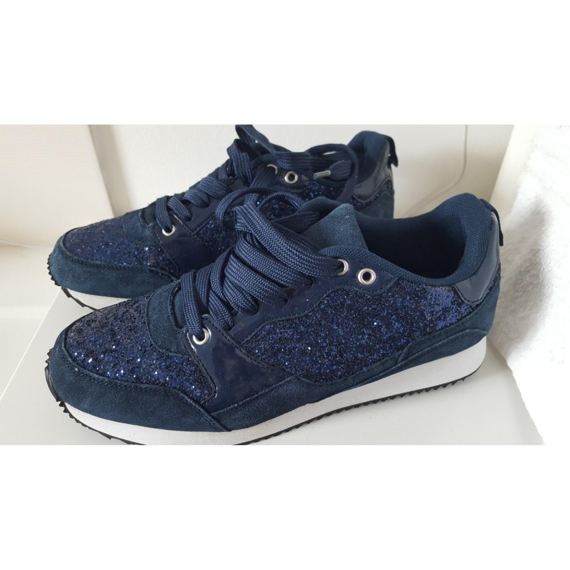 Chaussures de sport ERAM bleu marine avec paillettes