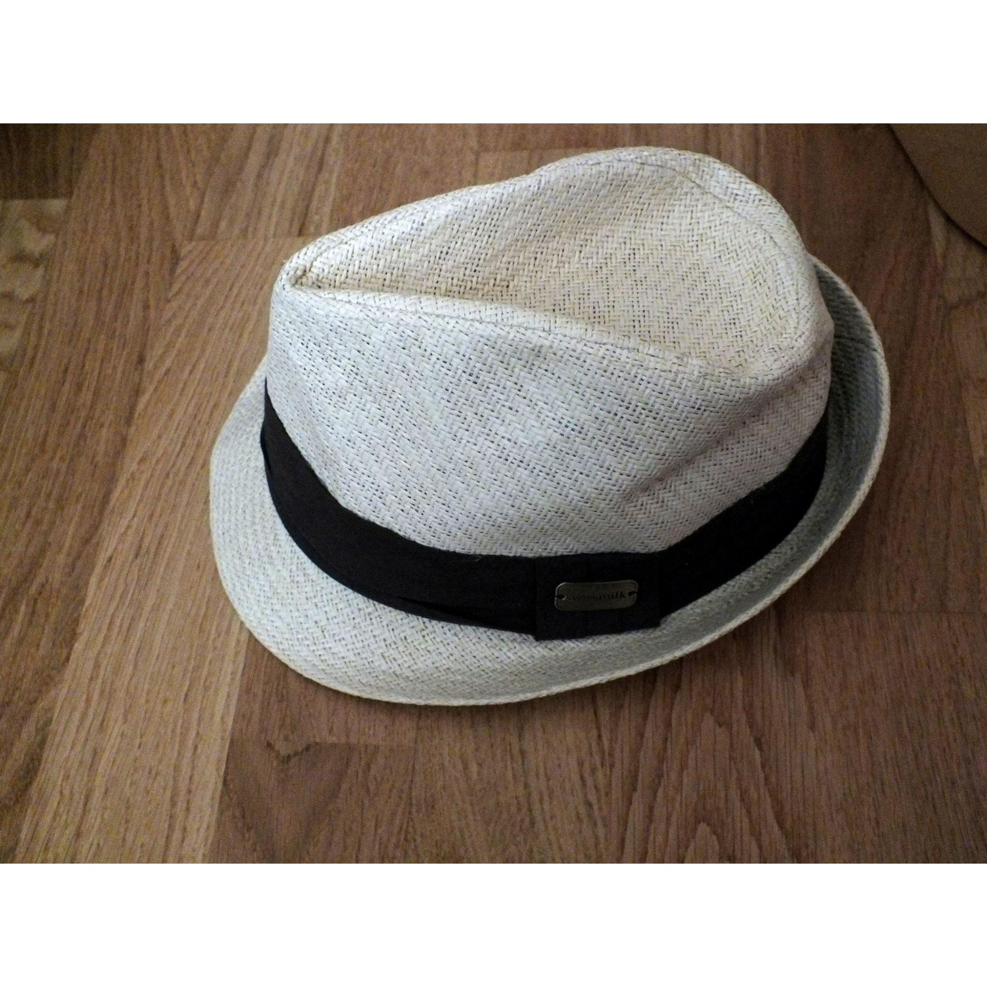 Chapeau SWISSMILK Blanc, blanc cassé, écru