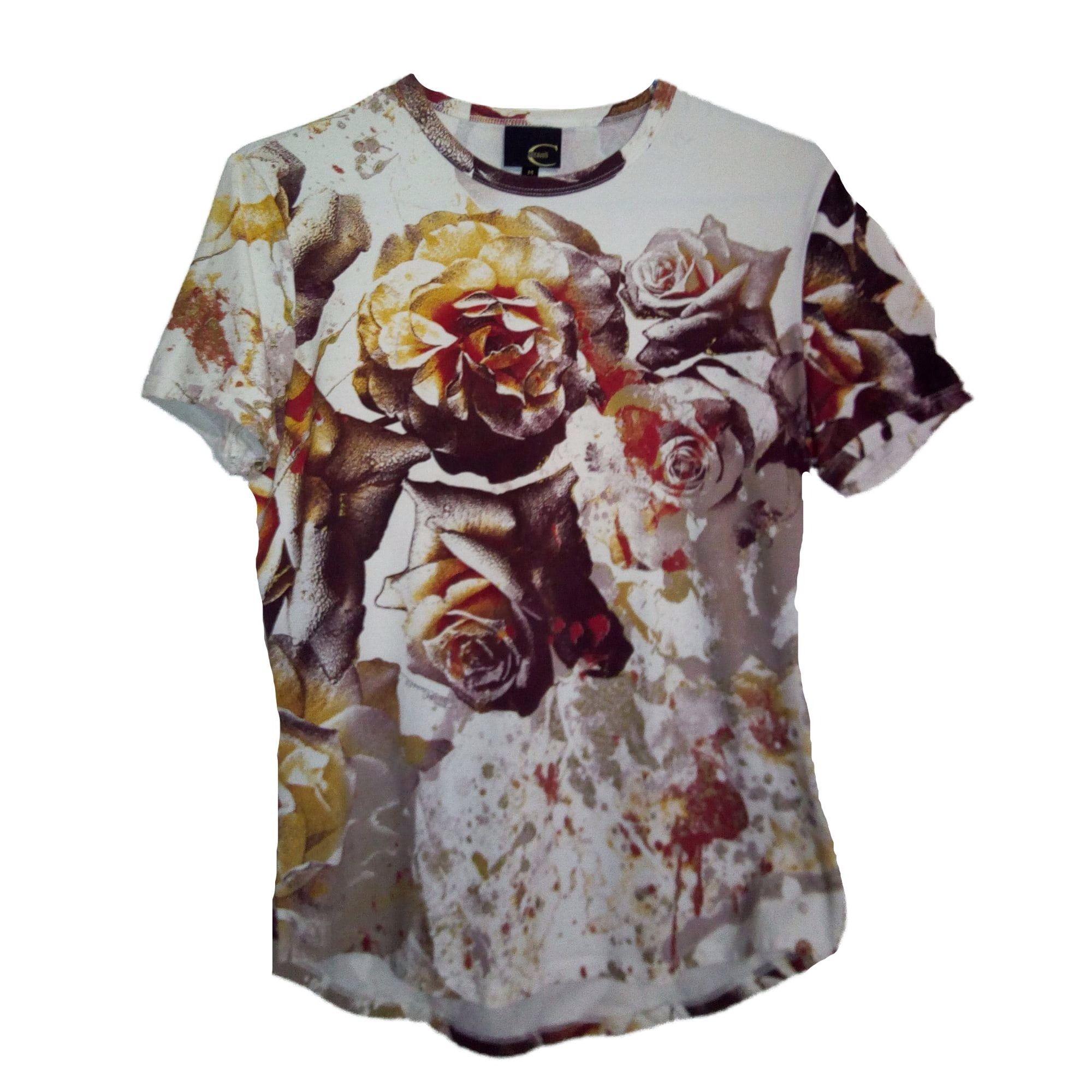 Tee-shirt JUST CAVALLI Blanc, blanc cassé, écru