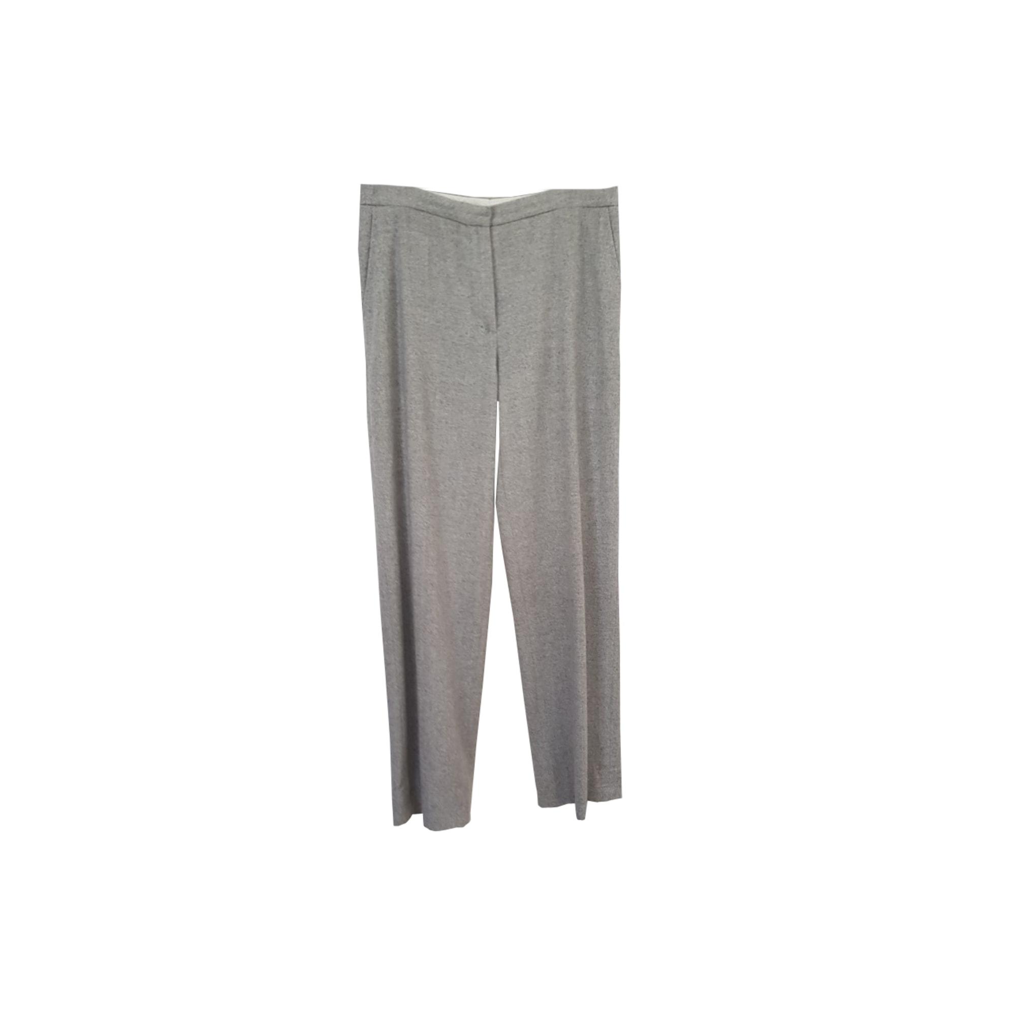 Pantalon droit MAX MARA Gris, anthracite