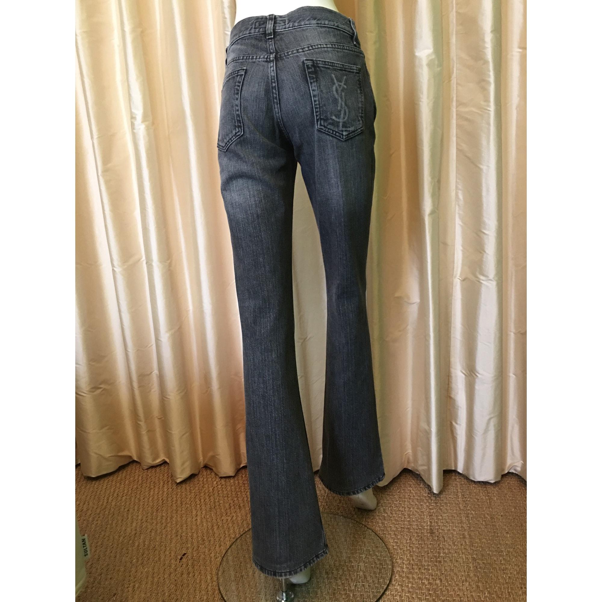Jeans évasé, boot-cut YVES SAINT LAURENT Gris, anthracite