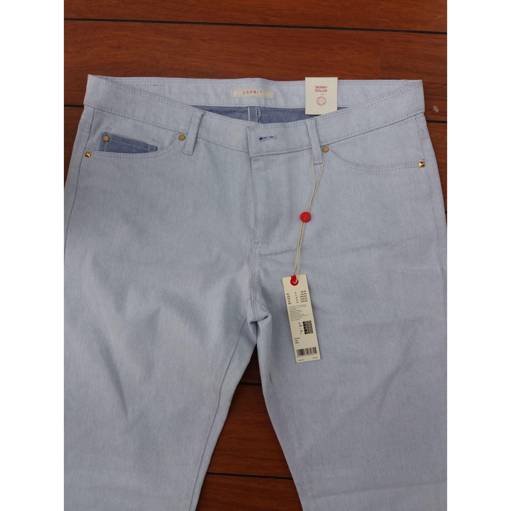 Jeans slim ESPRIT Bleu, bleu marine, bleu turquoise