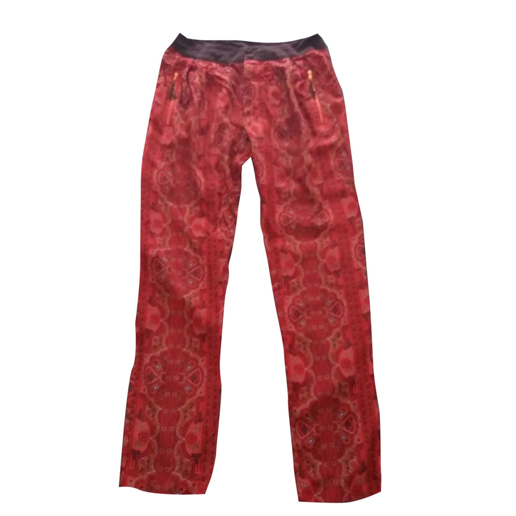 Pantalon droit LES PETITES... Orange