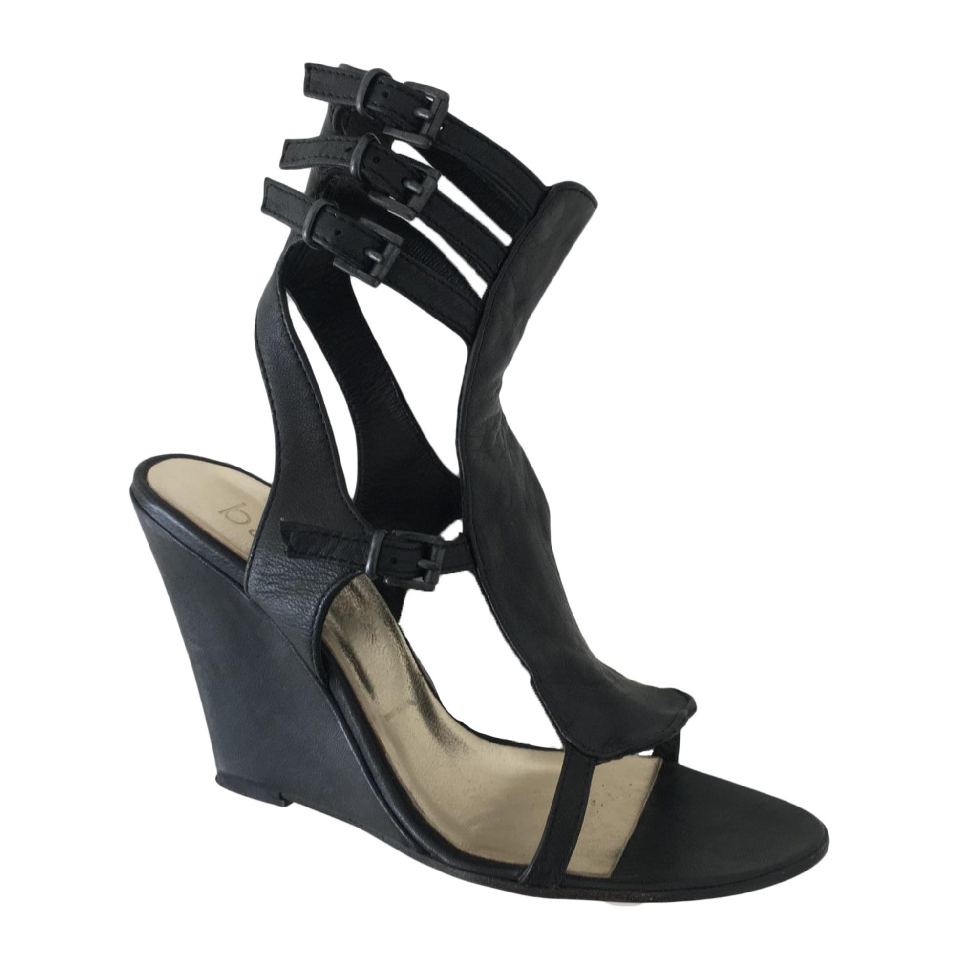 Sandales compensées BA&SH Noir