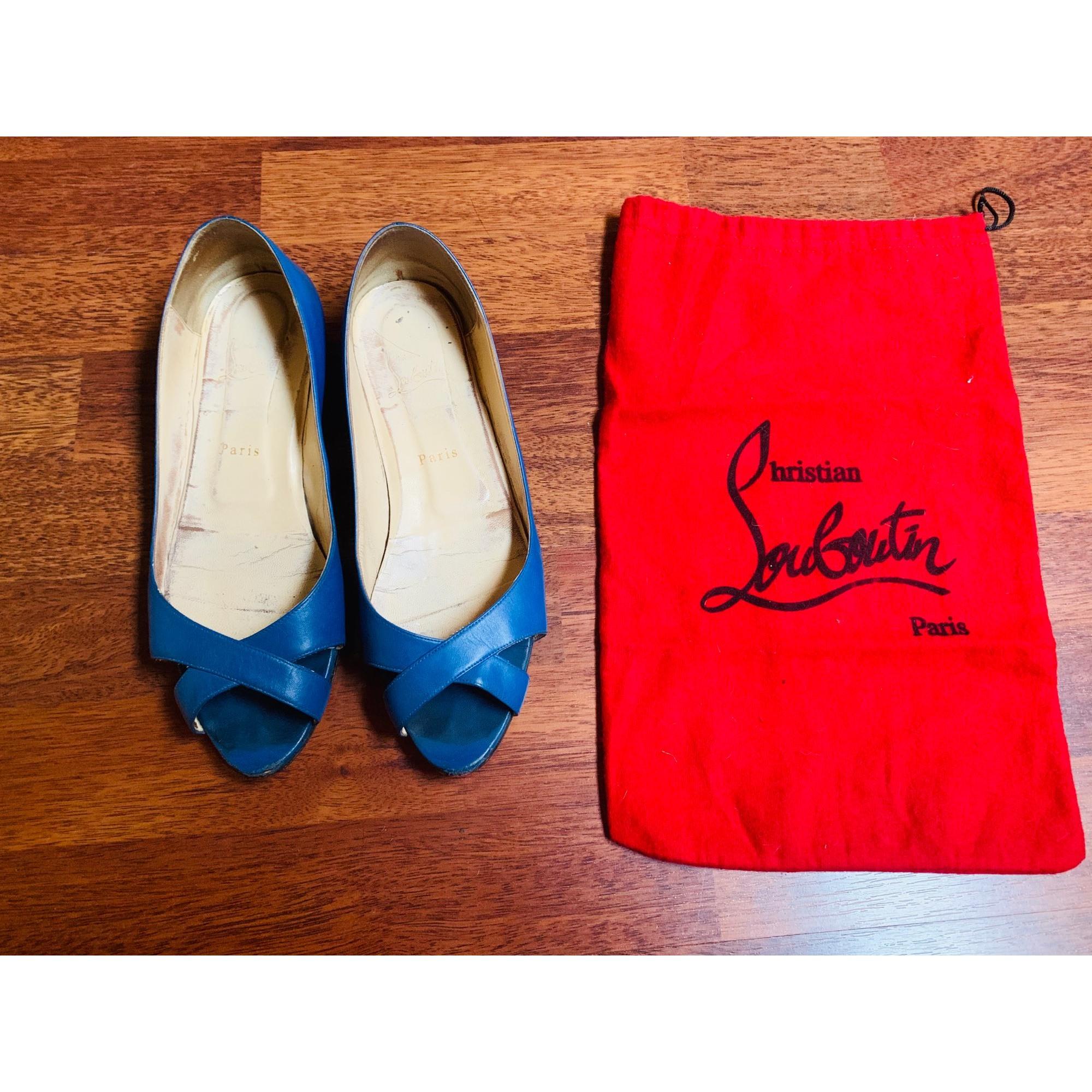 Ballerines CHRISTIAN LOUBOUTIN Bleu, bleu marine, bleu turquoise