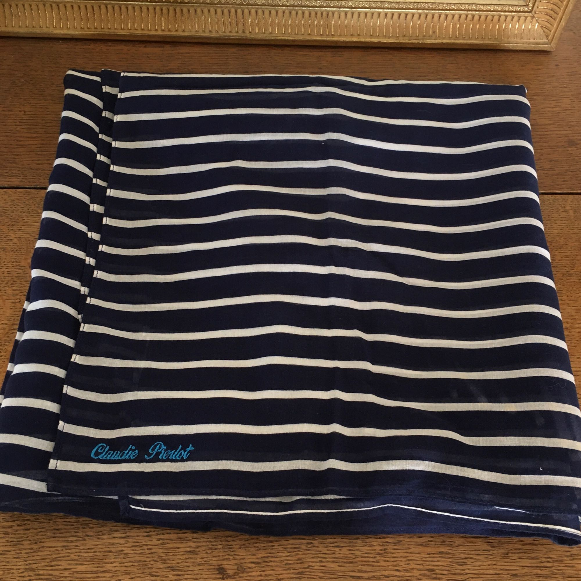 Paréo CLAUDIE PIERLOT Bleu, bleu marine, bleu turquoise