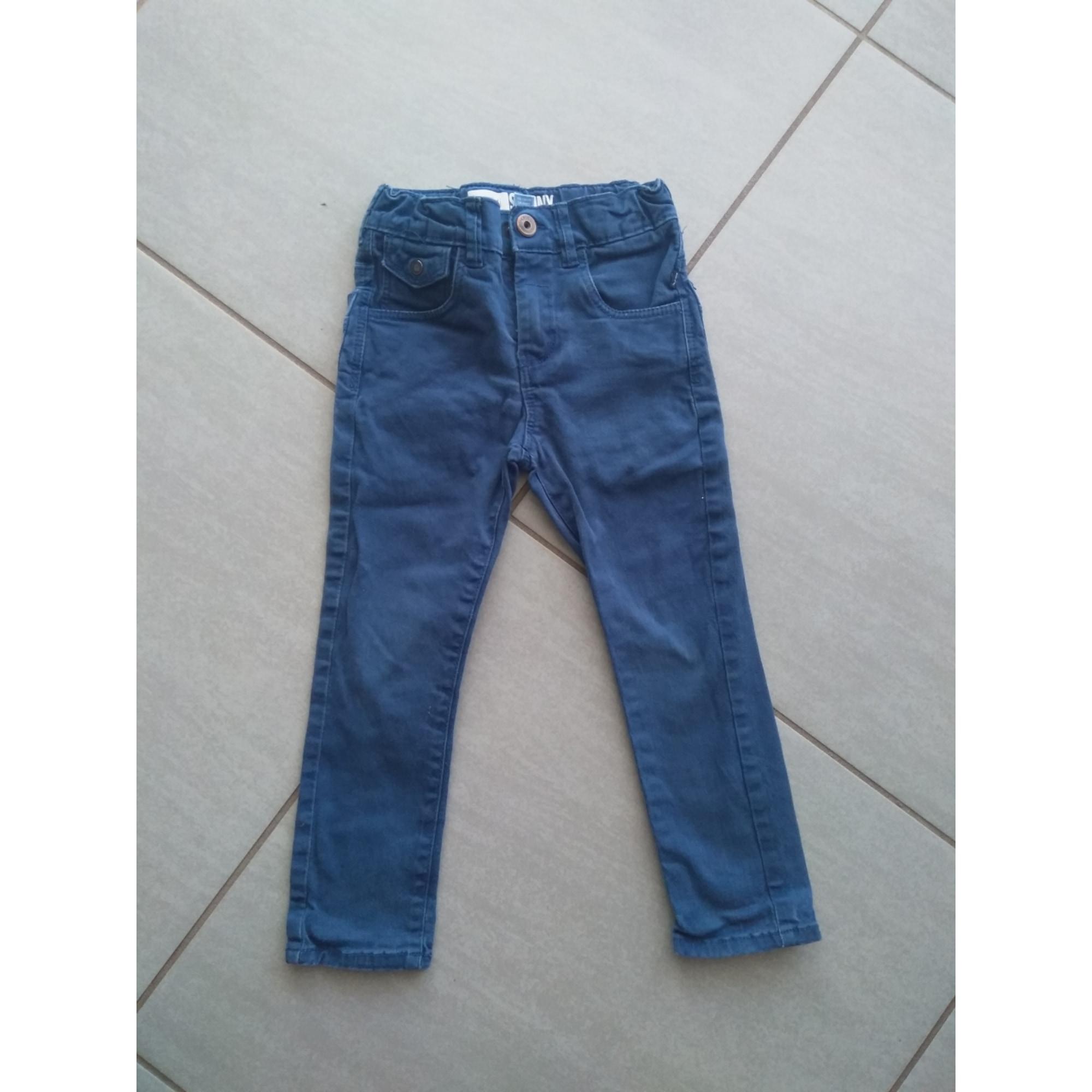 Jean slim OKAÏDI Bleu, bleu marine, bleu turquoise