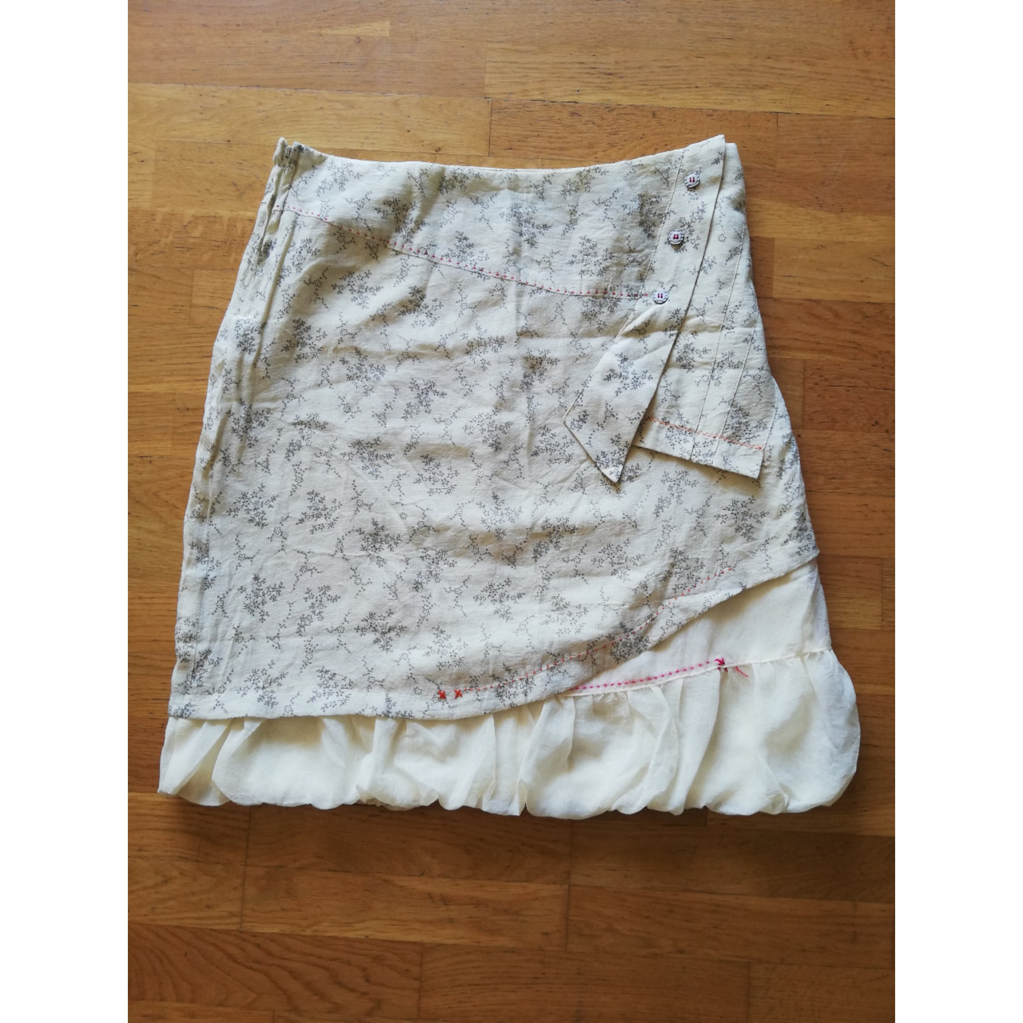 Jupe mi-longue MARQUE INCONNUE Blanc, blanc cassé, écru
