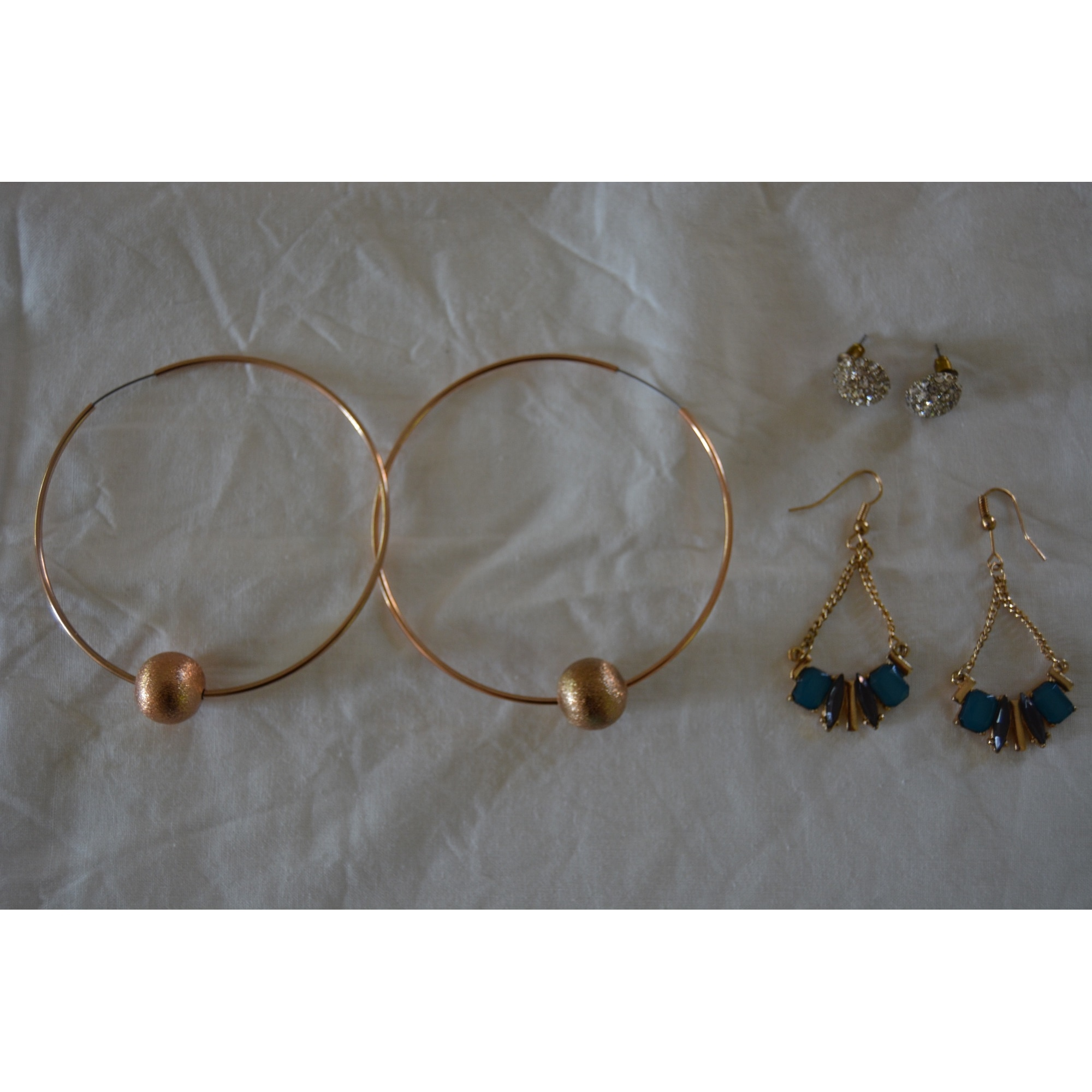 Boucles d'oreille MOA Doré, bronze, cuivre