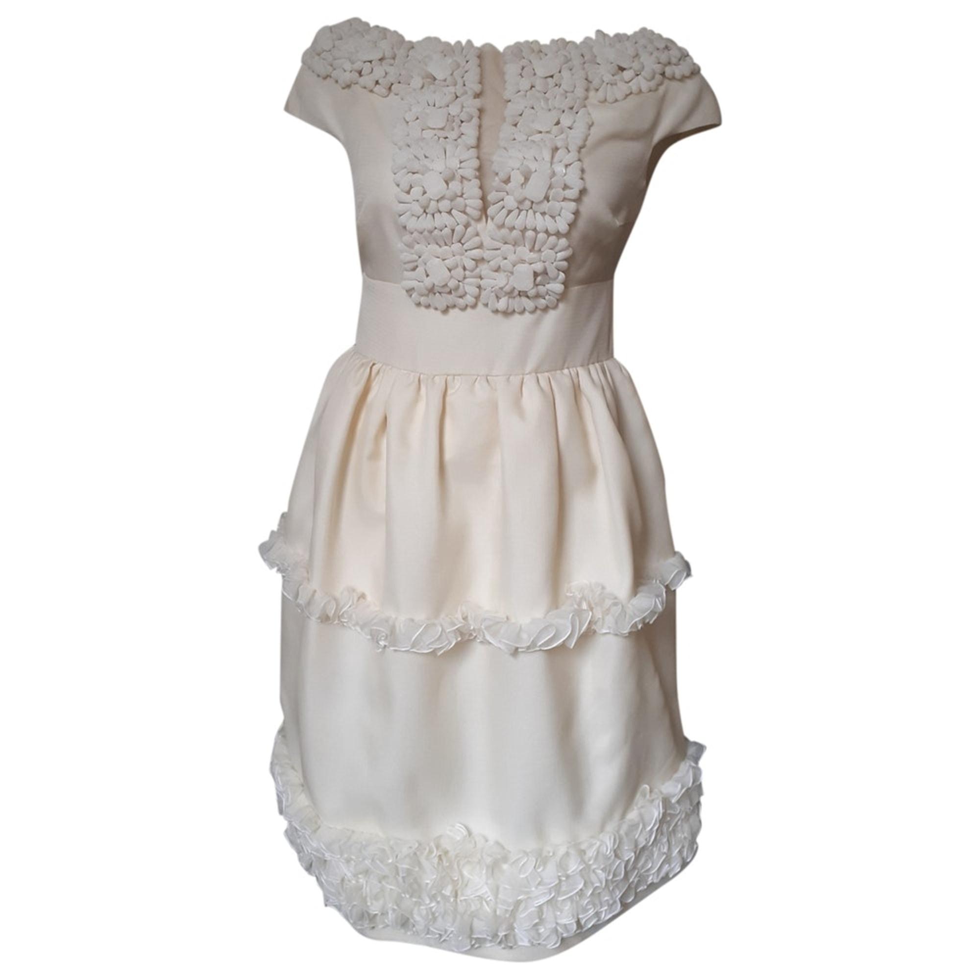 Robe mi-longue GIAMBATTISTA VALLI Blanc, blanc cassé, écru