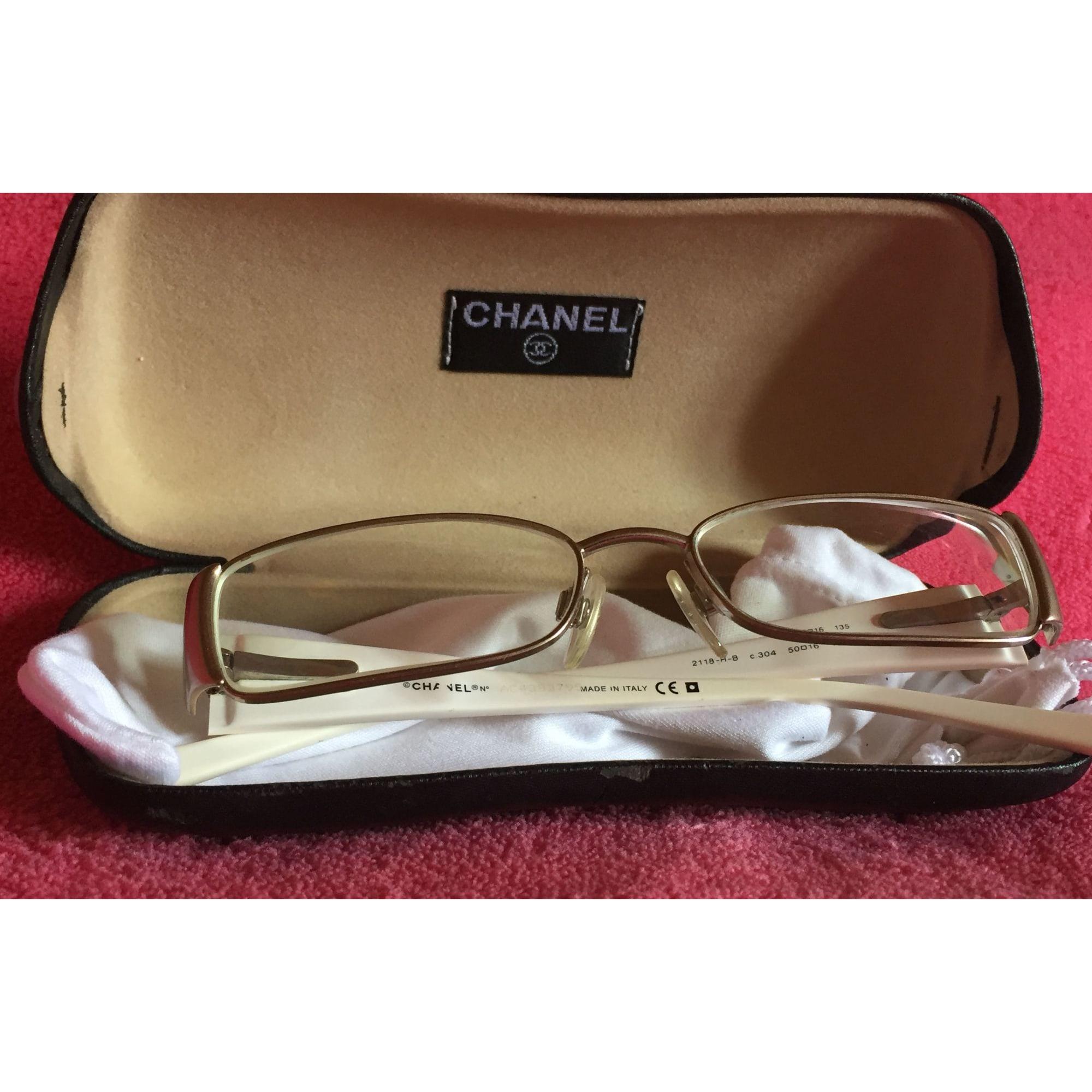 Monture de lunettes CHANEL Blanc, blanc cassé, écru