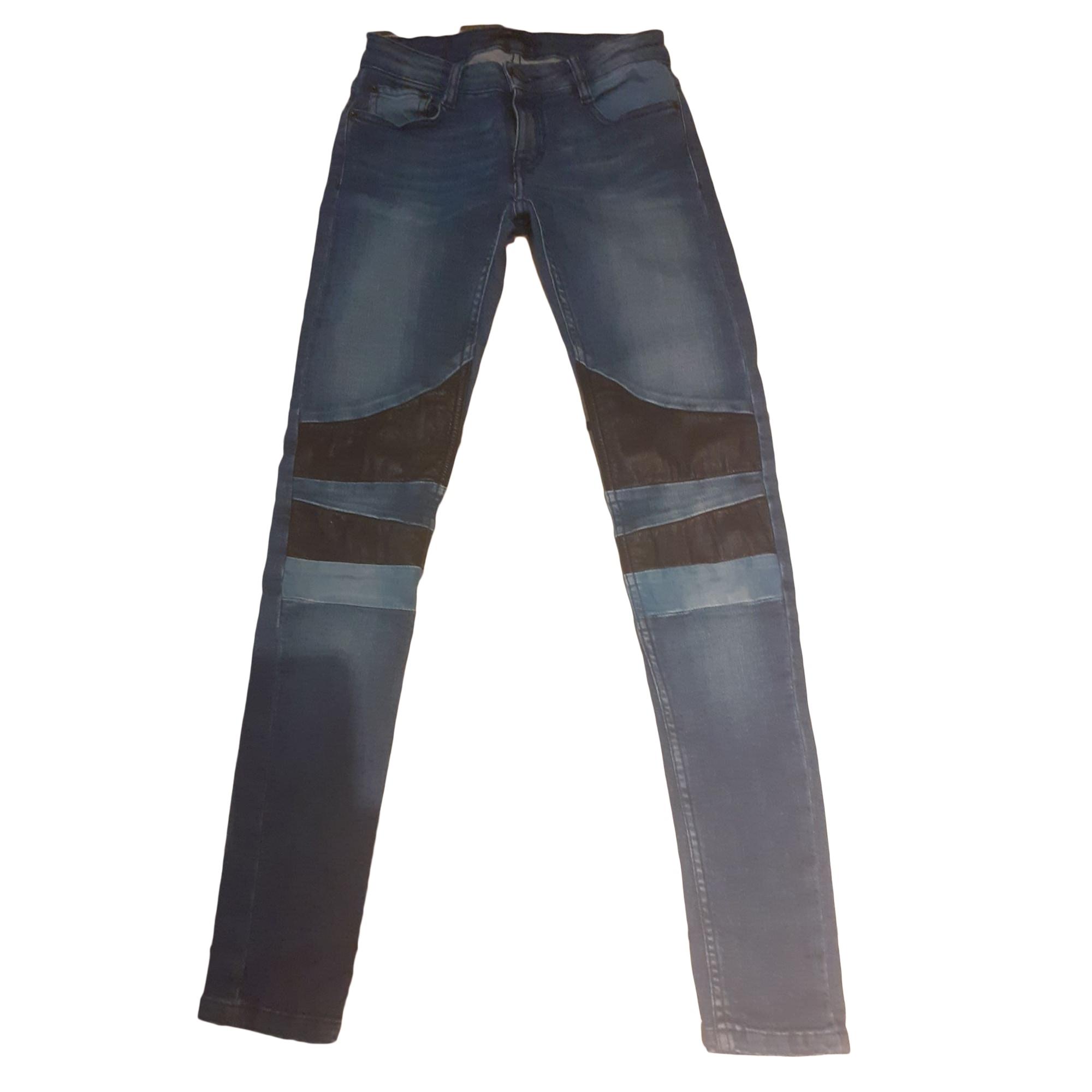 Jeans slim MAJE Bleu, bleu marine, bleu turquoise