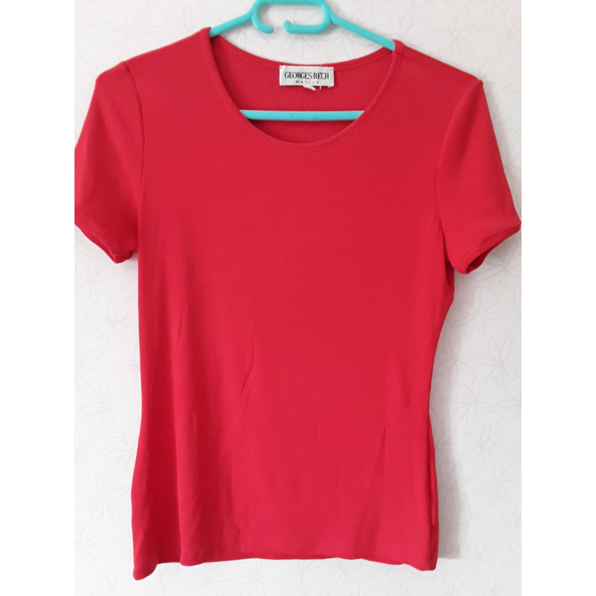 Top, tee-shirt GEORGES RECH Rouge, bordeaux