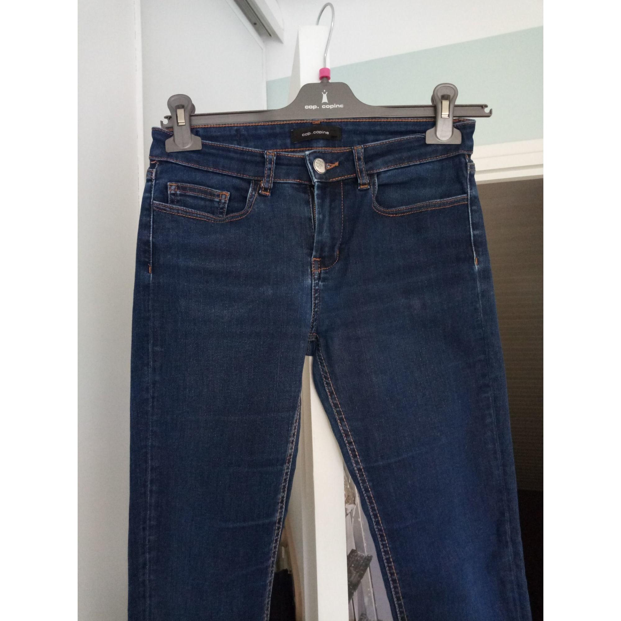 Jeans droit COP-COPINE Bleu, bleu marine, bleu turquoise