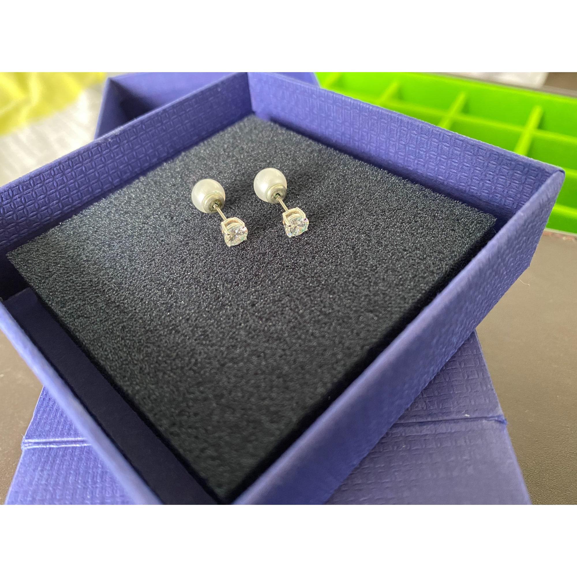 Boucles d'oreille SWAROVSKI Blanc, blanc cassé, écru