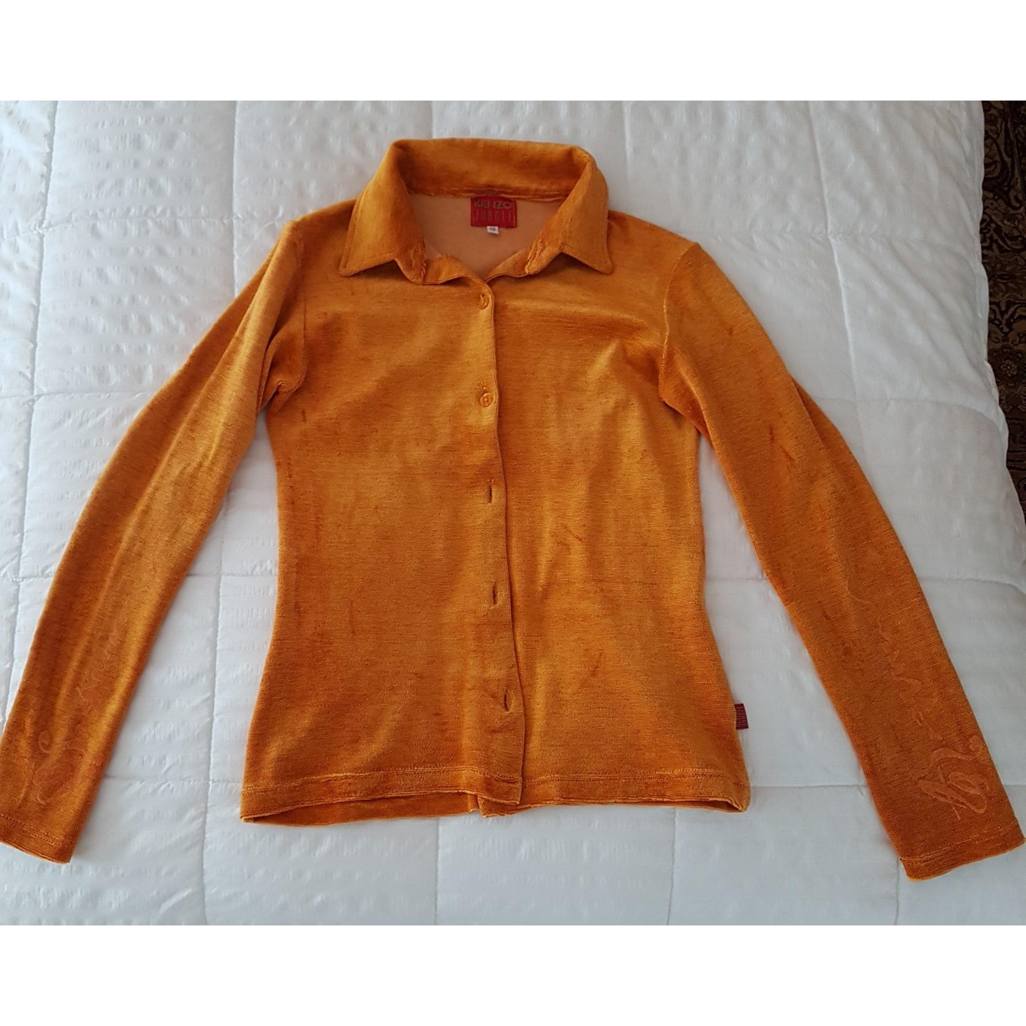 Chemise KENZO orange/gold